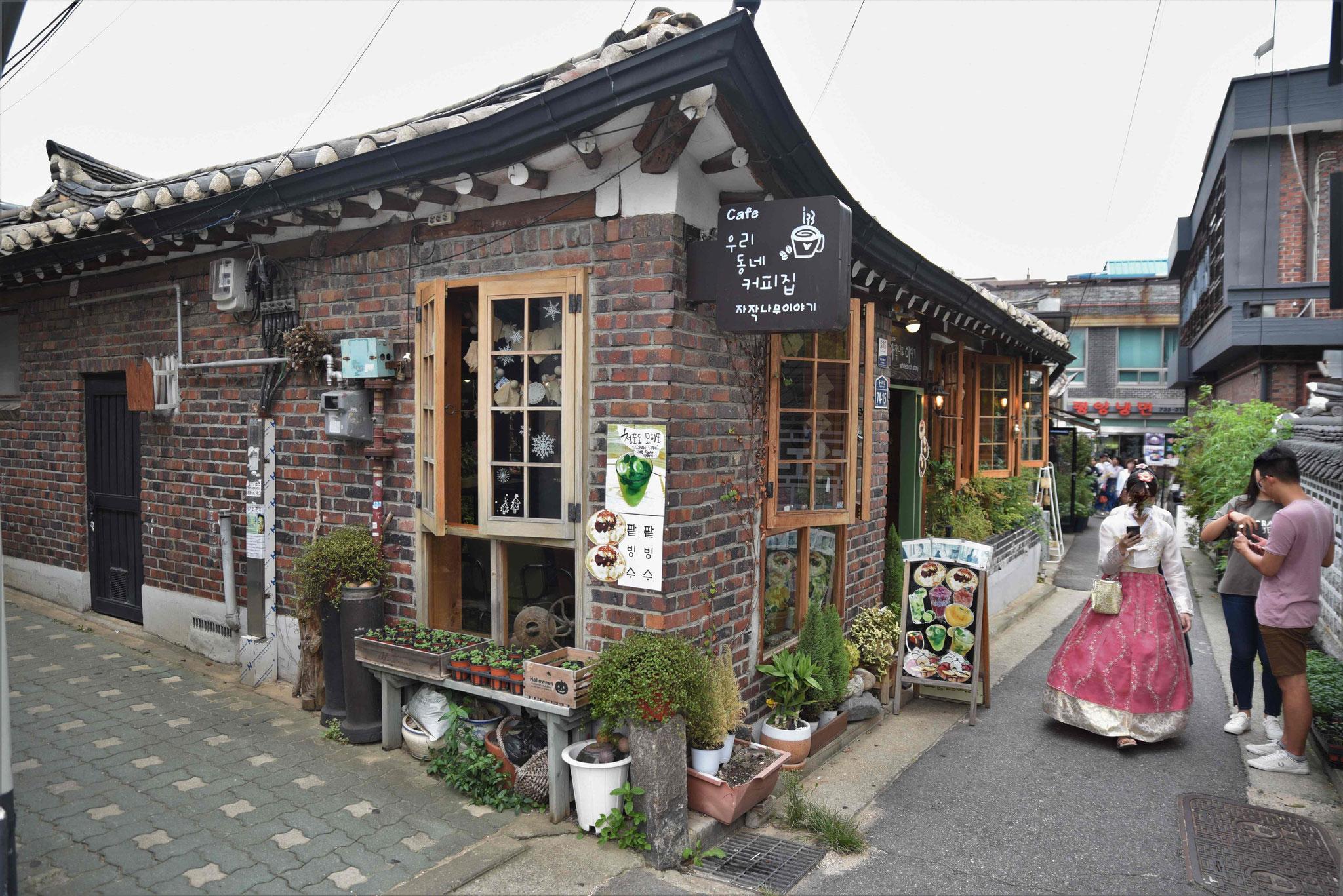 Schön dekorierter Laden