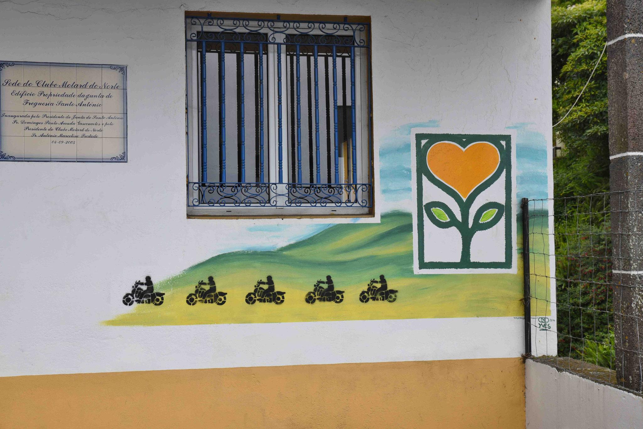 """""""Herzblume"""" für einen Motorradclub"""