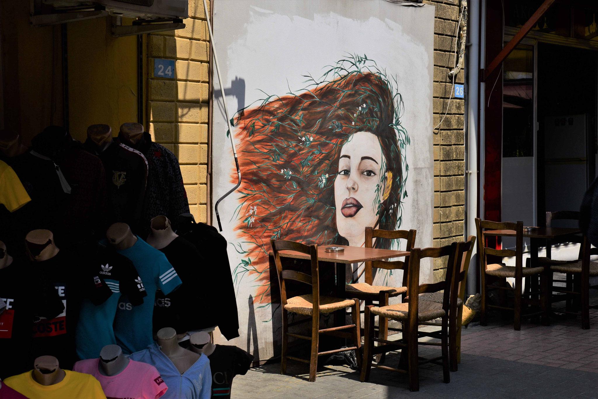 Auch im türkischen Teil gibt es Graffiti