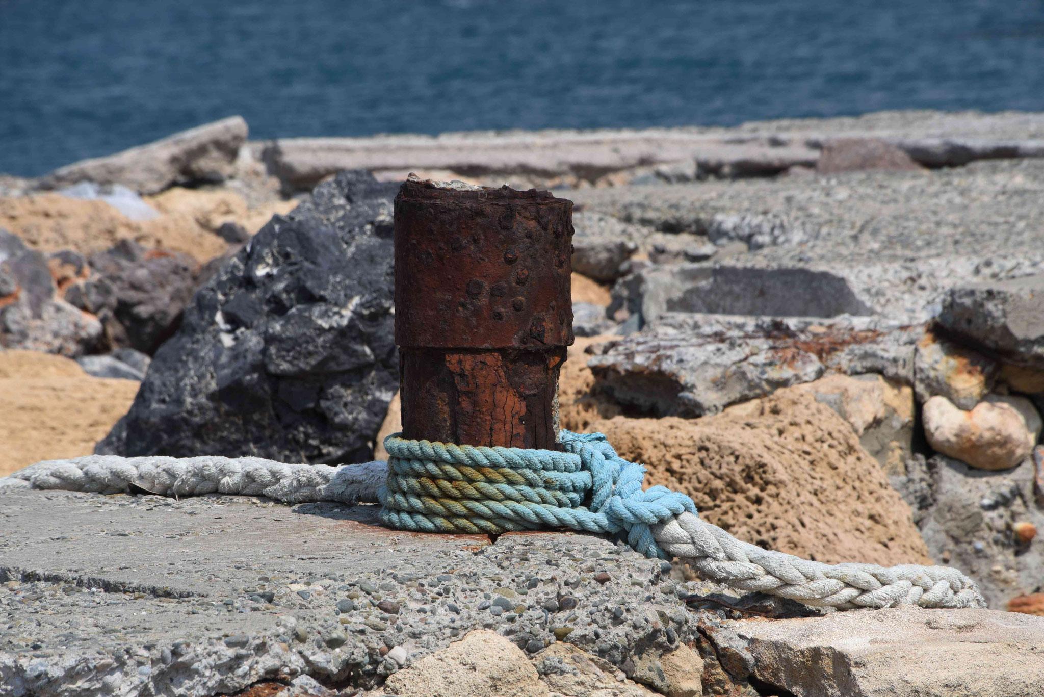 ... das Salzwasser greift bekanntlich Eisen an