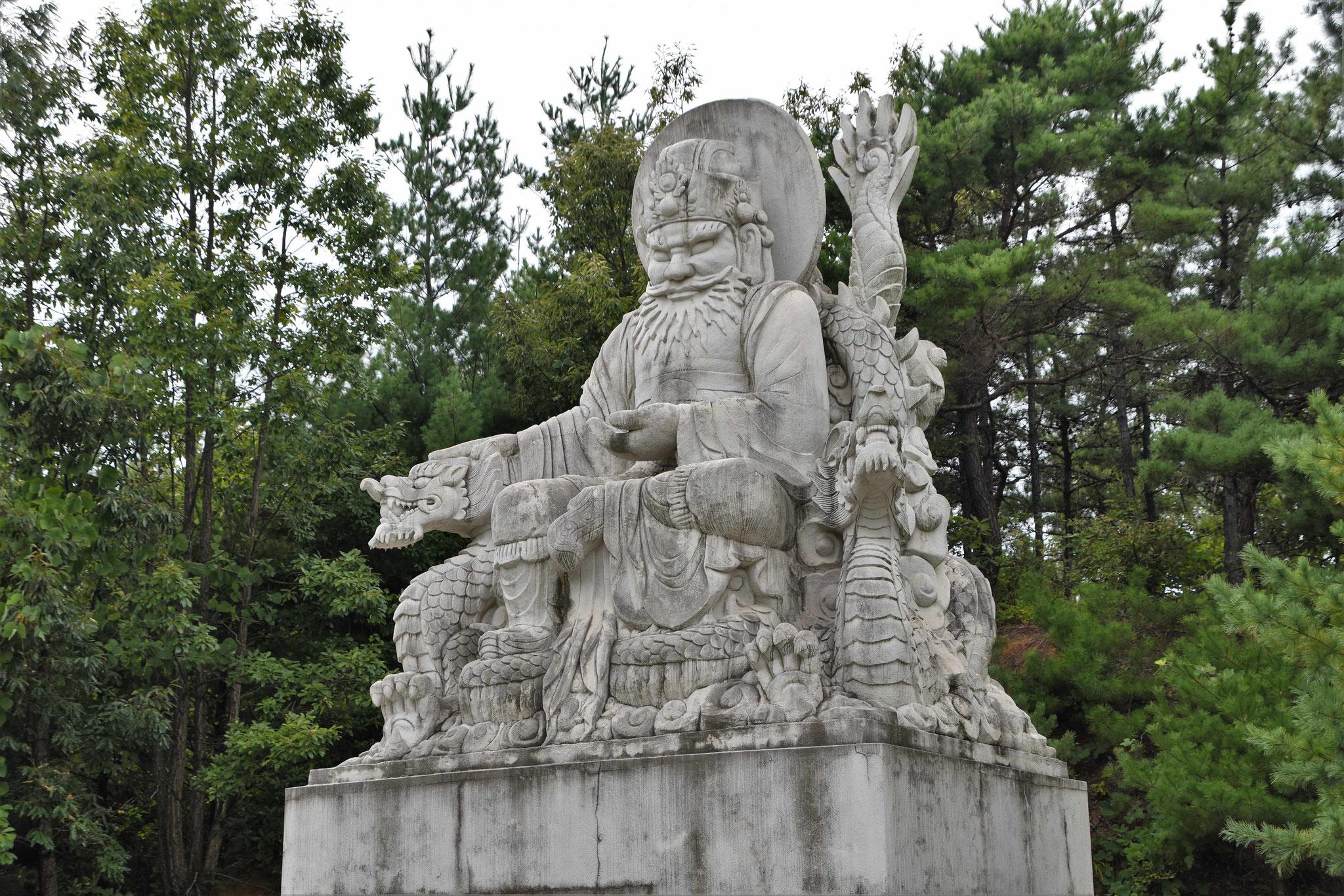 Hinduistisch angehauchte Statue