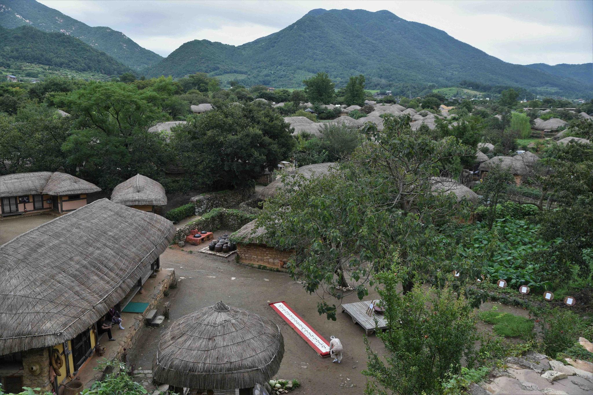 Blick über das Nagan Folk Village