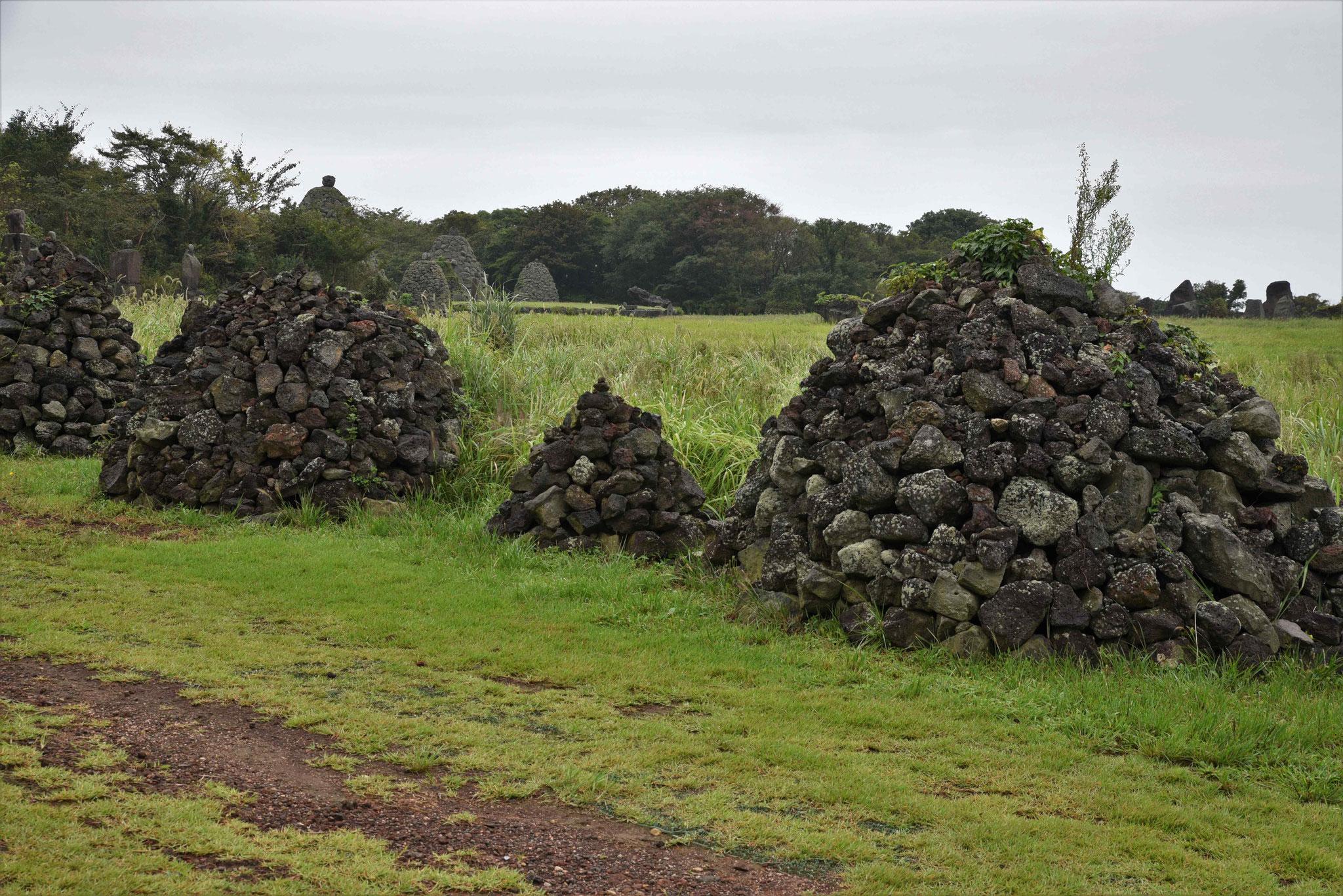 Steinhügel im Jeju Stone Park
