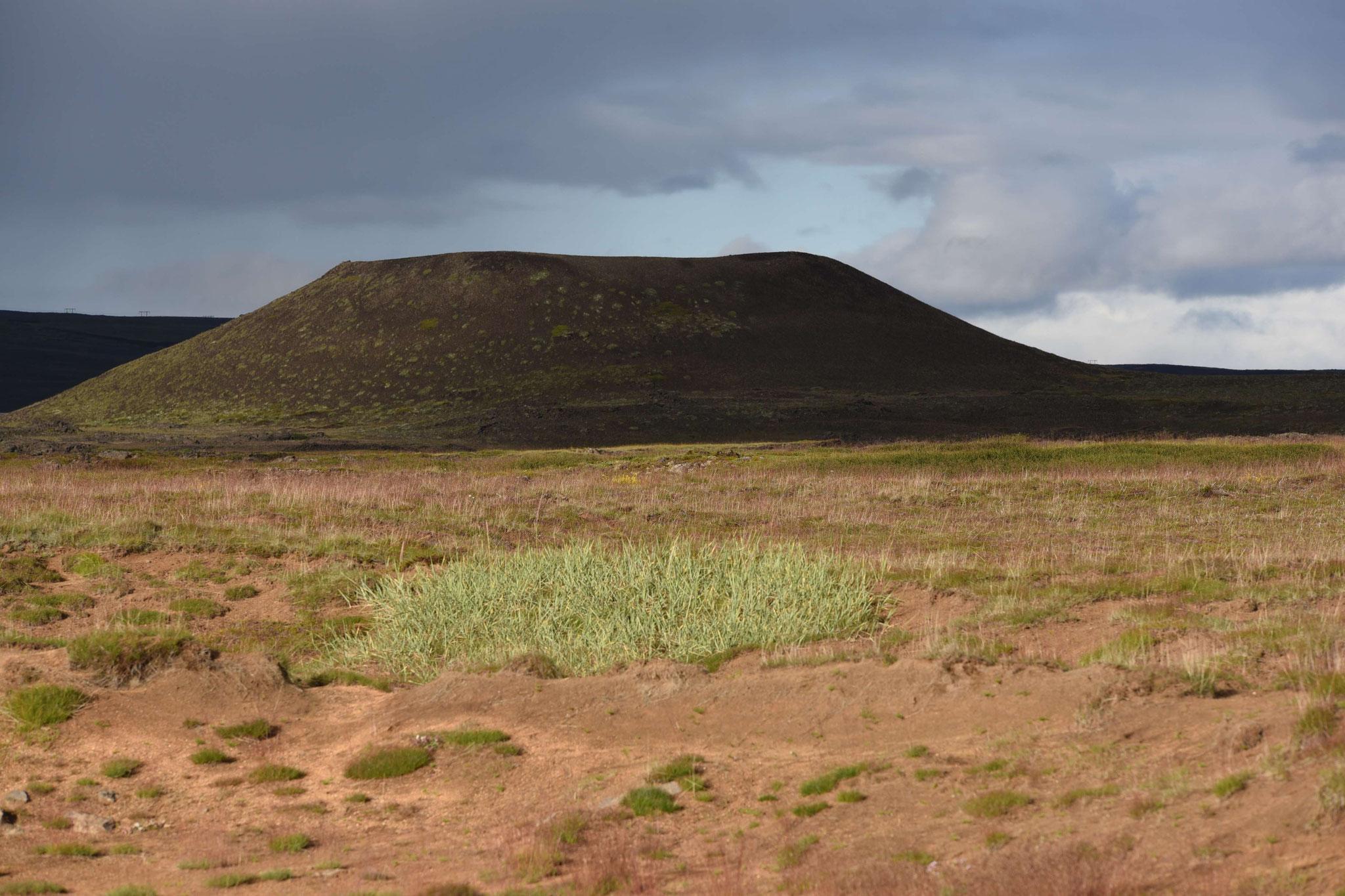 Vulkankrater östlich von Reykjalid