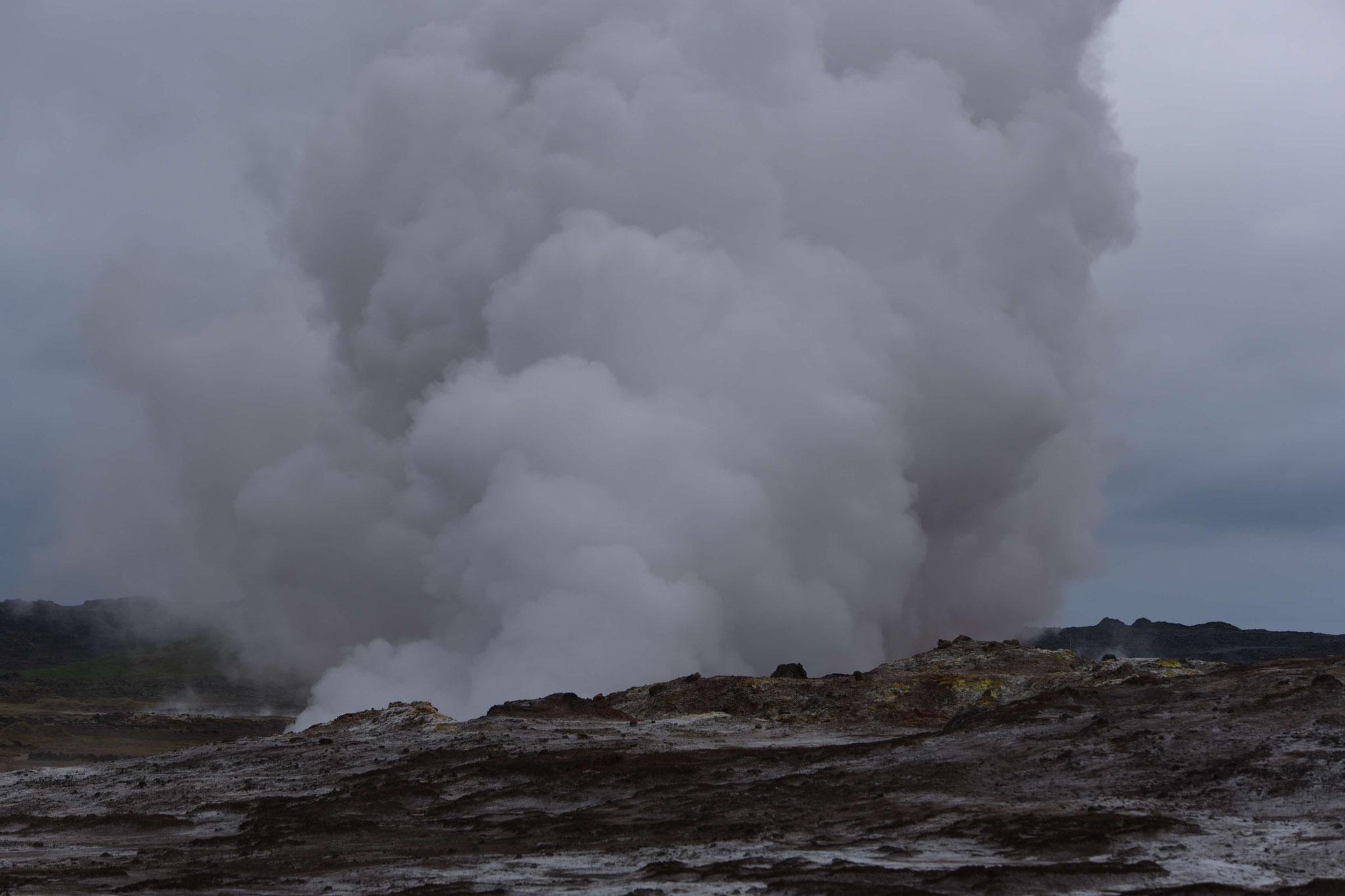 Wasserdampf westlich von Grindavík I