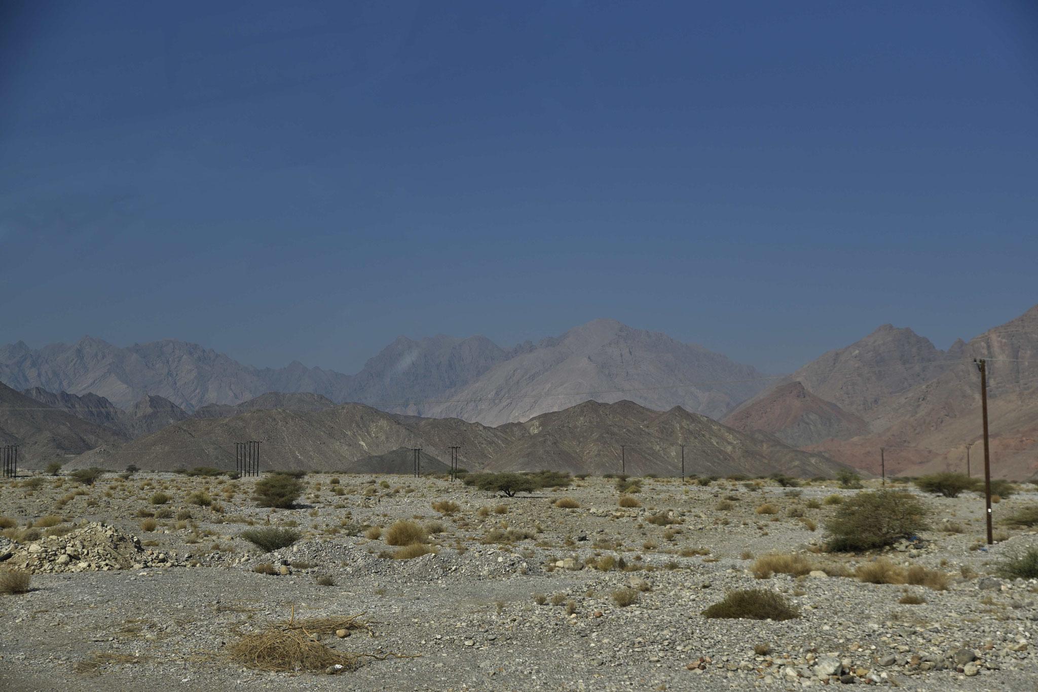 Kleines Oasendorf am Fuße des Jebel Nakhal