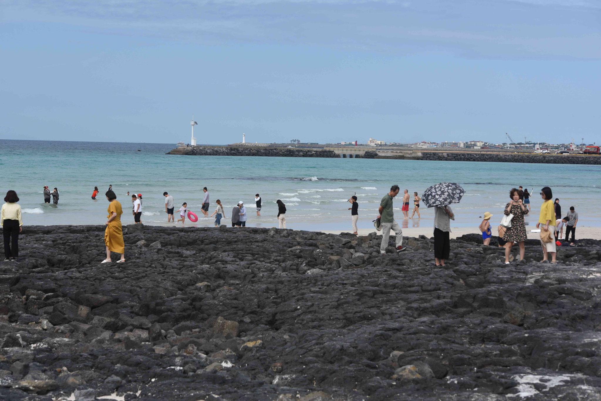 Erloschene Lava - Jeju ist eine Vulkaninsel