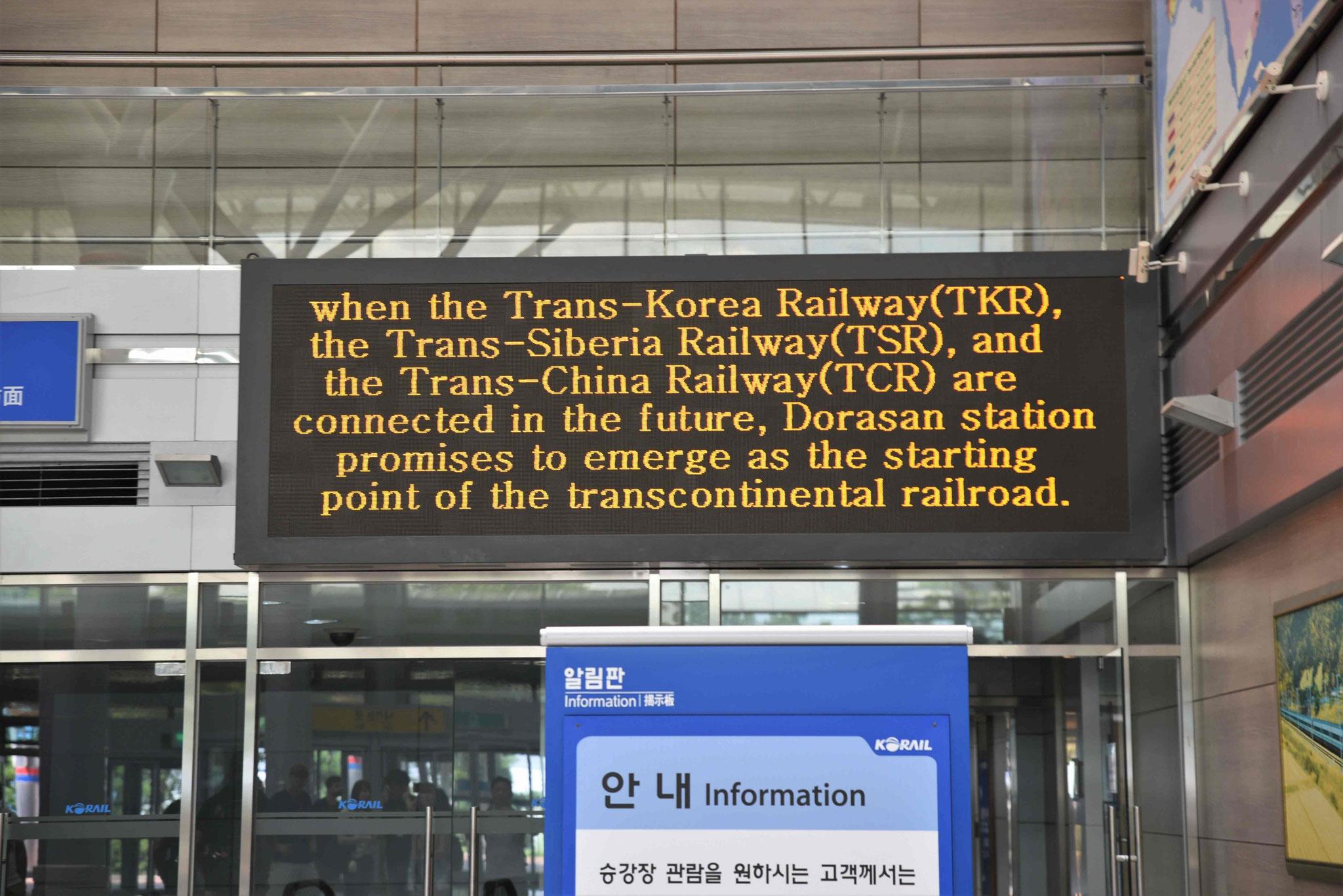 Auf Dauer soll von Südkorea bis nach Europa die Schienenverbindung verlaufen