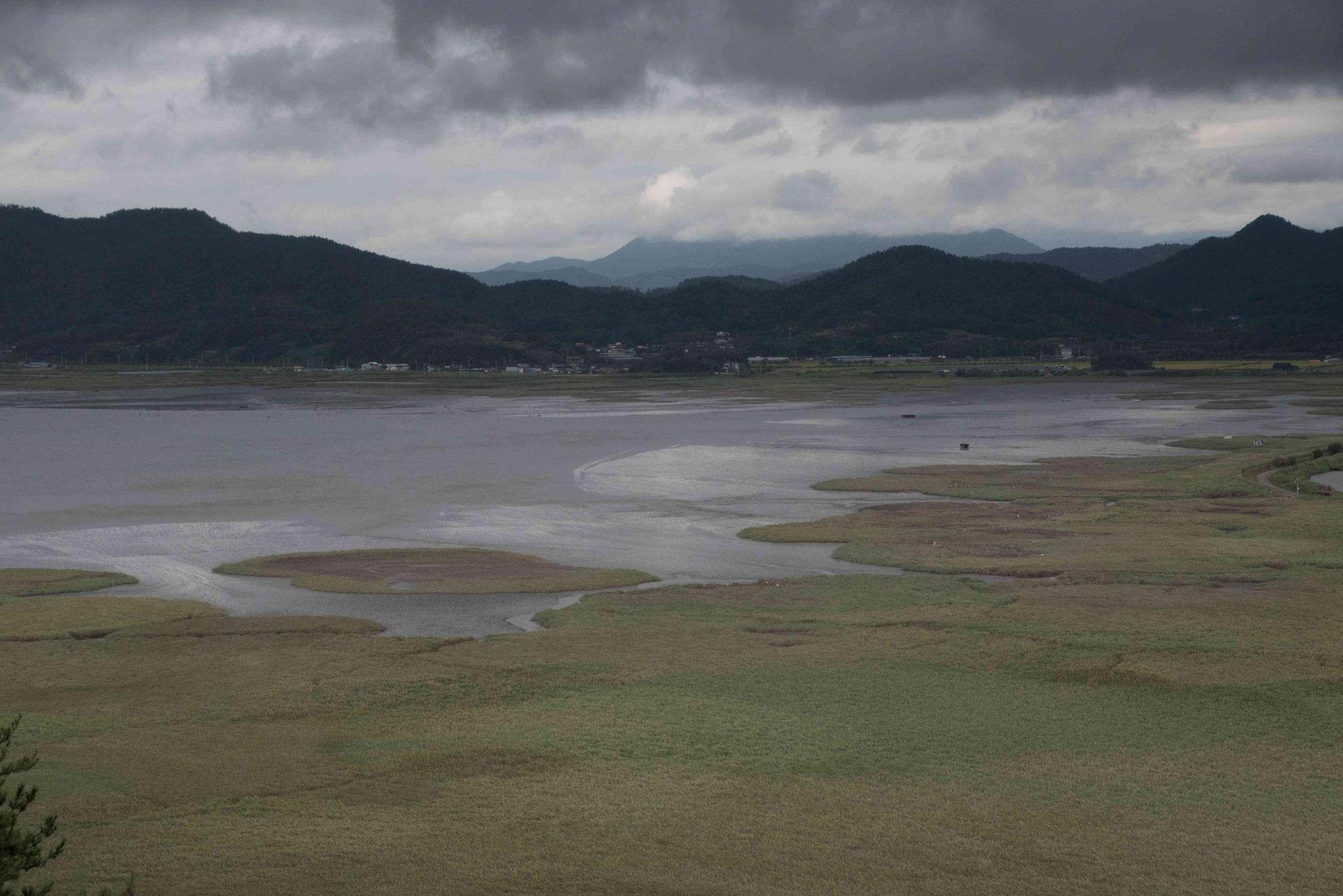 Blick ins Landesinnere nach Suncheon