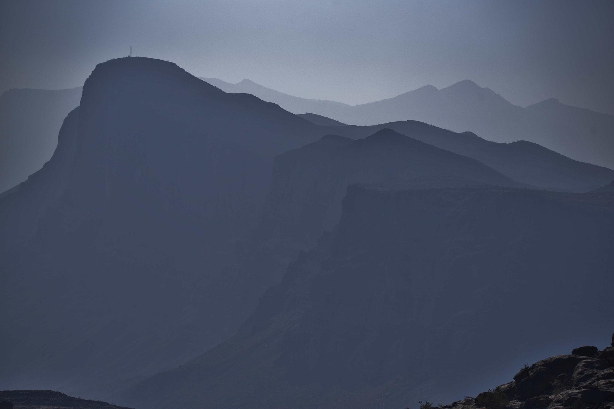 Blick auf die Berge um den Jebel Shams