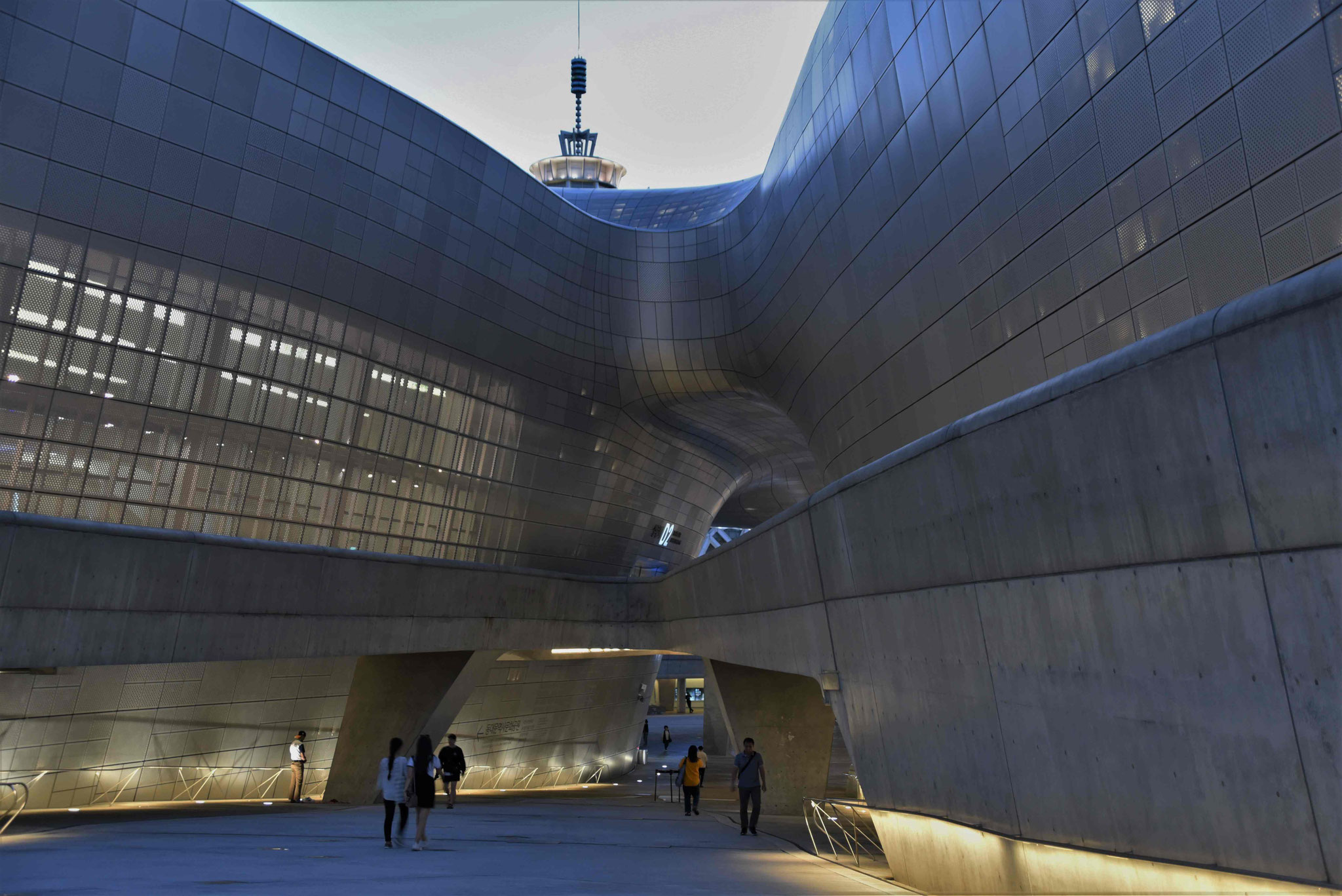 Rückseite des Dongdaemun Design Plaza