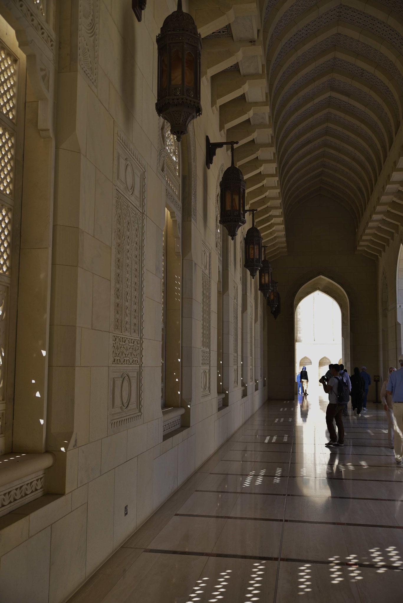 Bei 36° waren die Säulengänge super kühlend