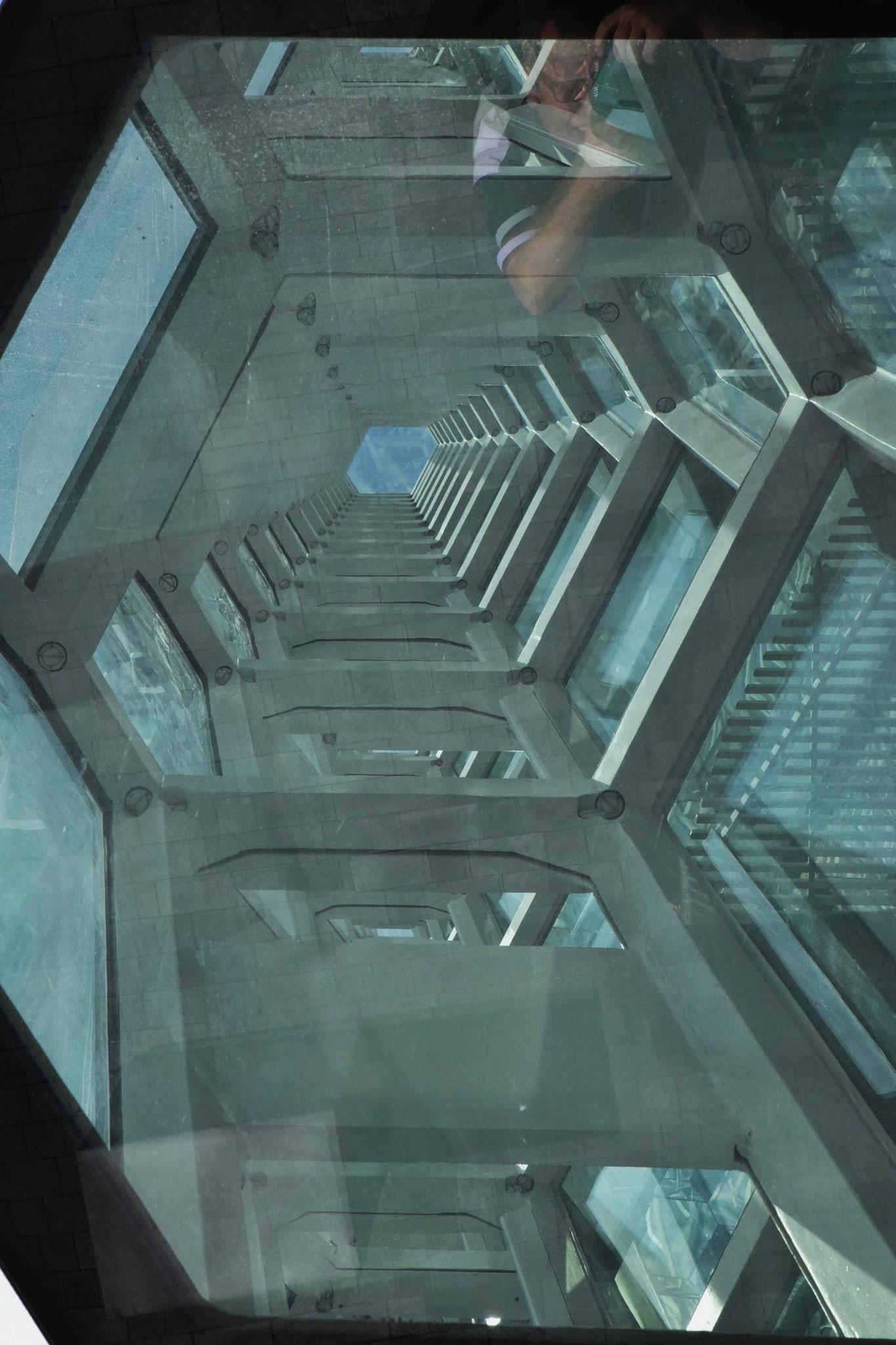 Blick durch die Glasfasadenelemente II