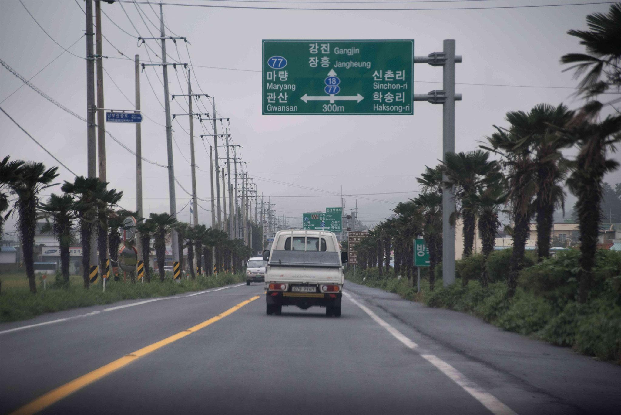 Auf der Strecke nach Mokpo