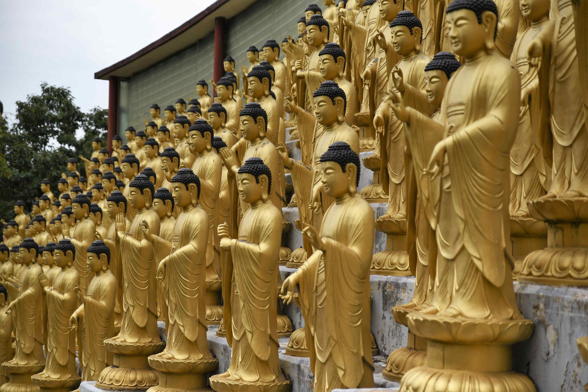 Ausschnitt aus den 1000 Statuen