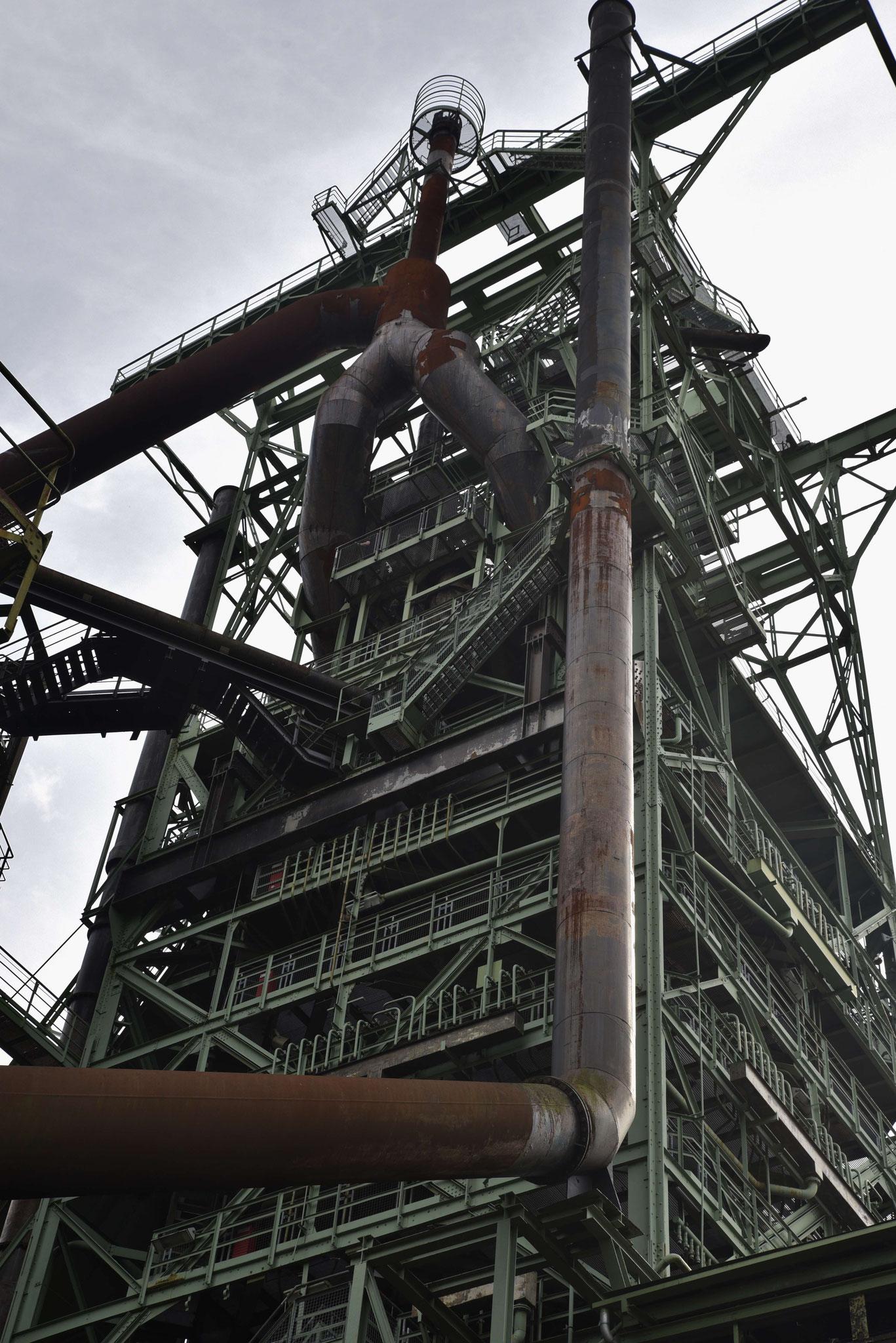 Blick auf den Hochofenturm