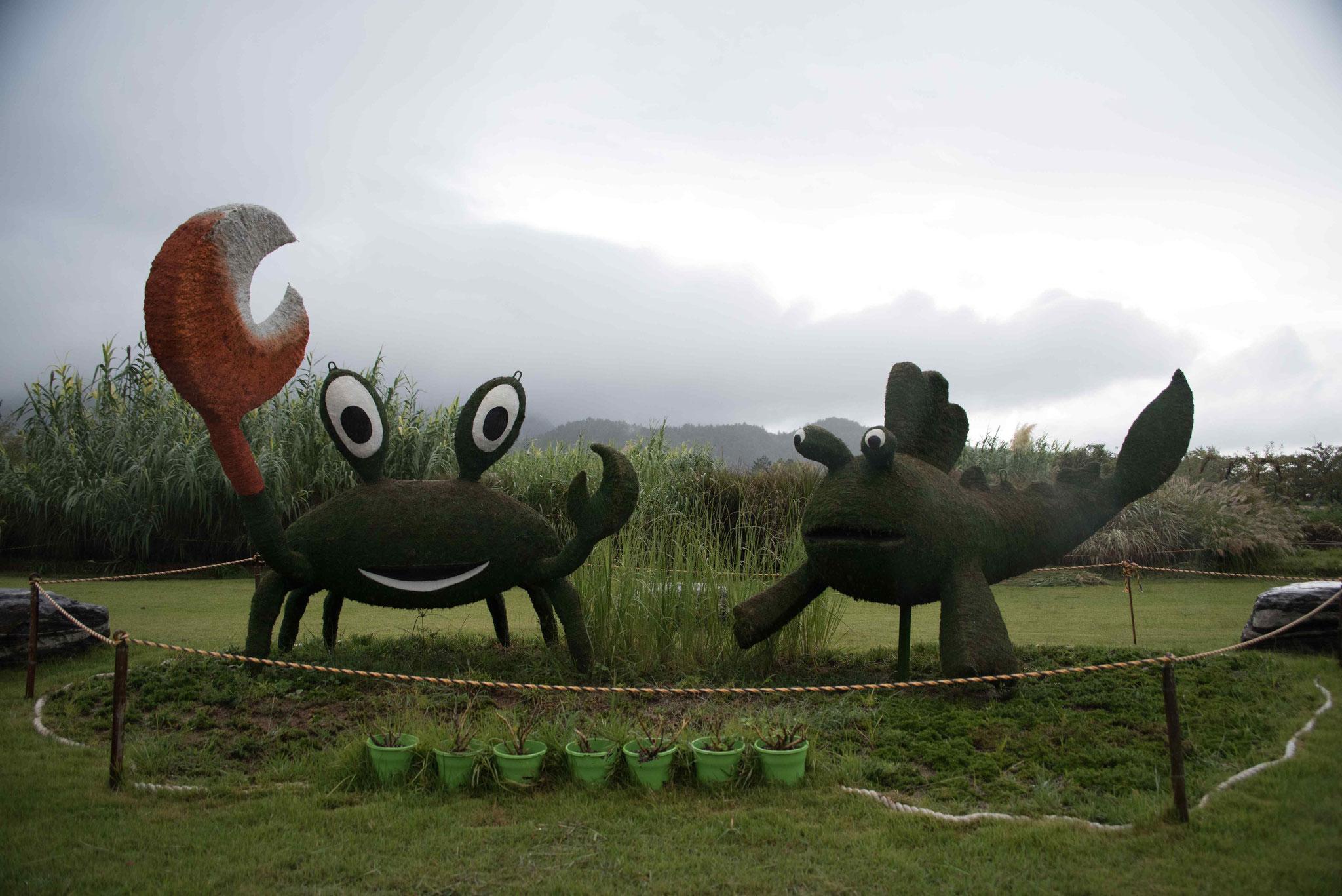 Kunstobjekt Krabbe