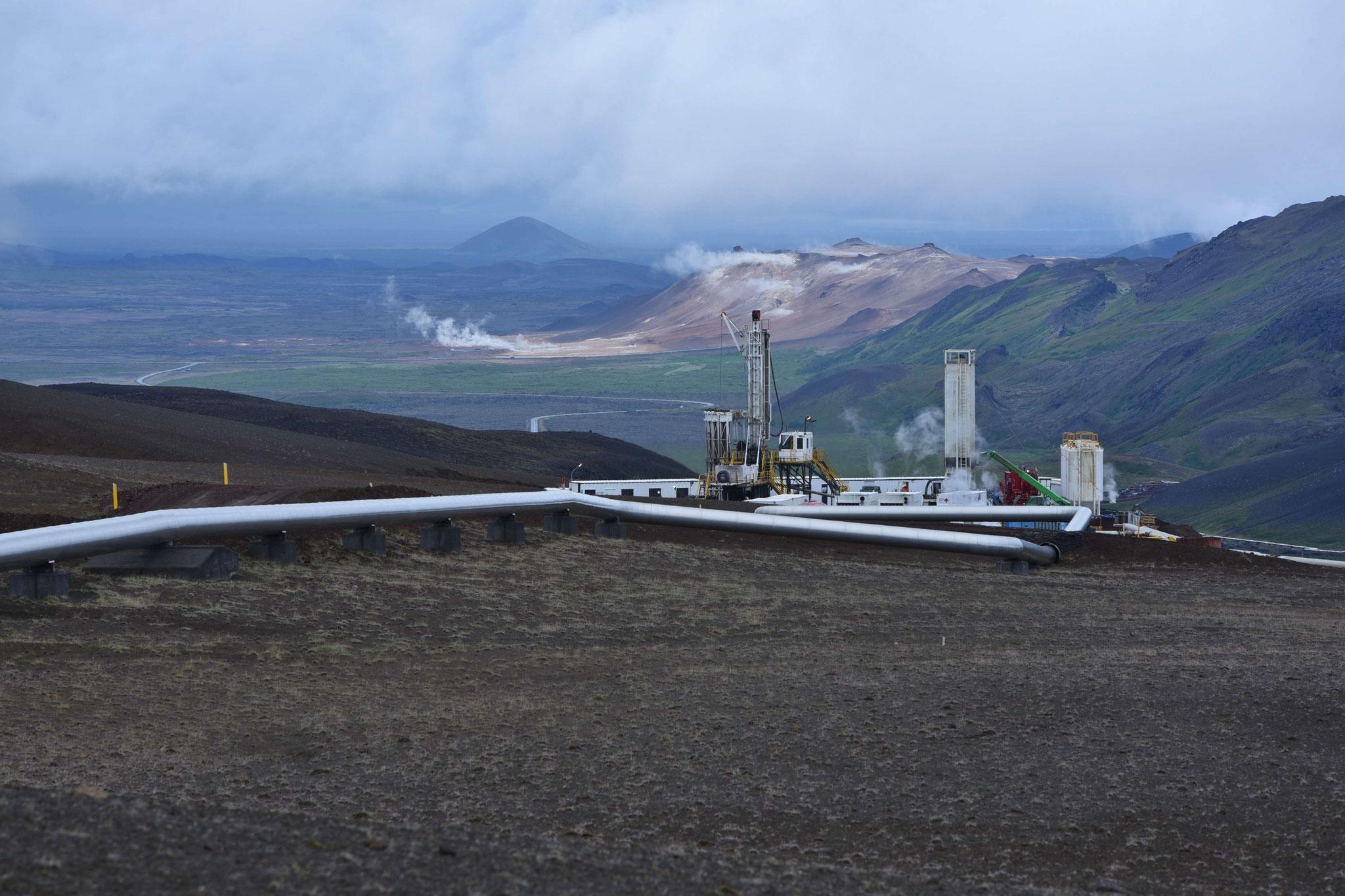 Krafla - Geothermienutzung