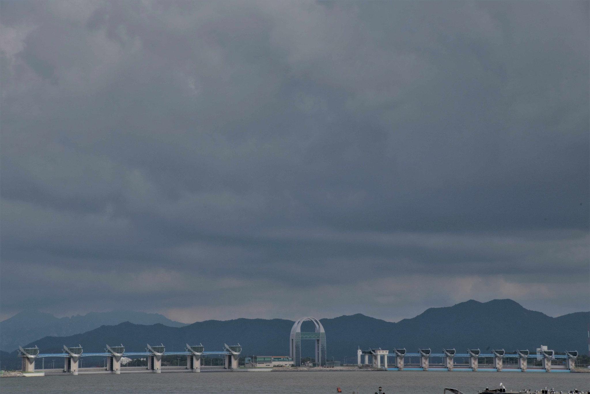Blick auf die Wasserkraftgewinnung bei Mokpo