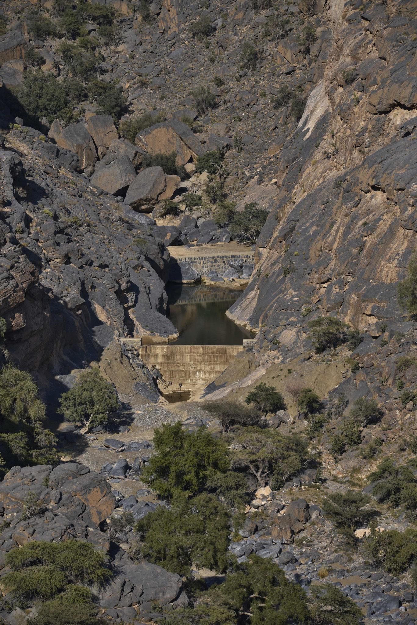 Staudamm für den Ackerbau