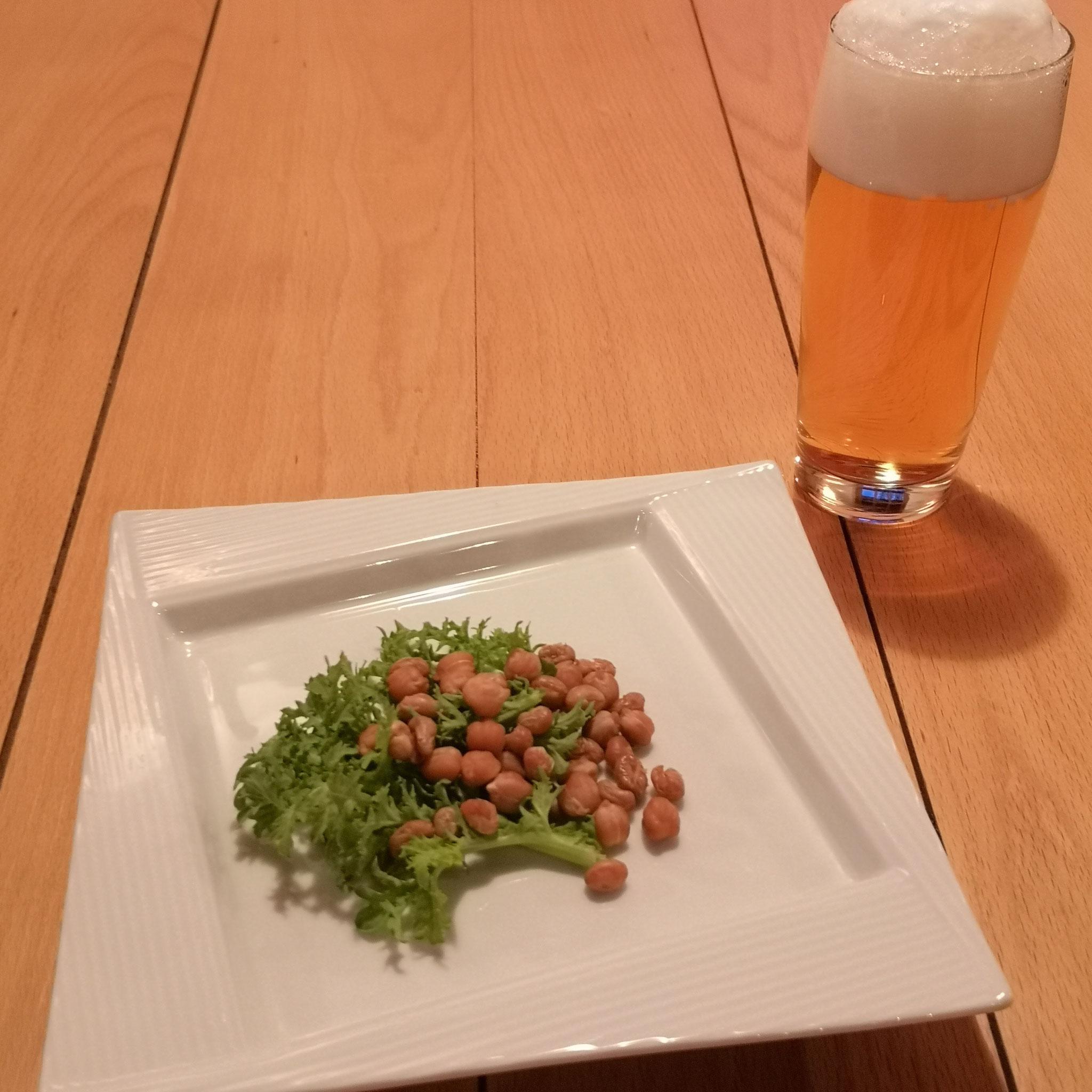 豆のスモーク調理例