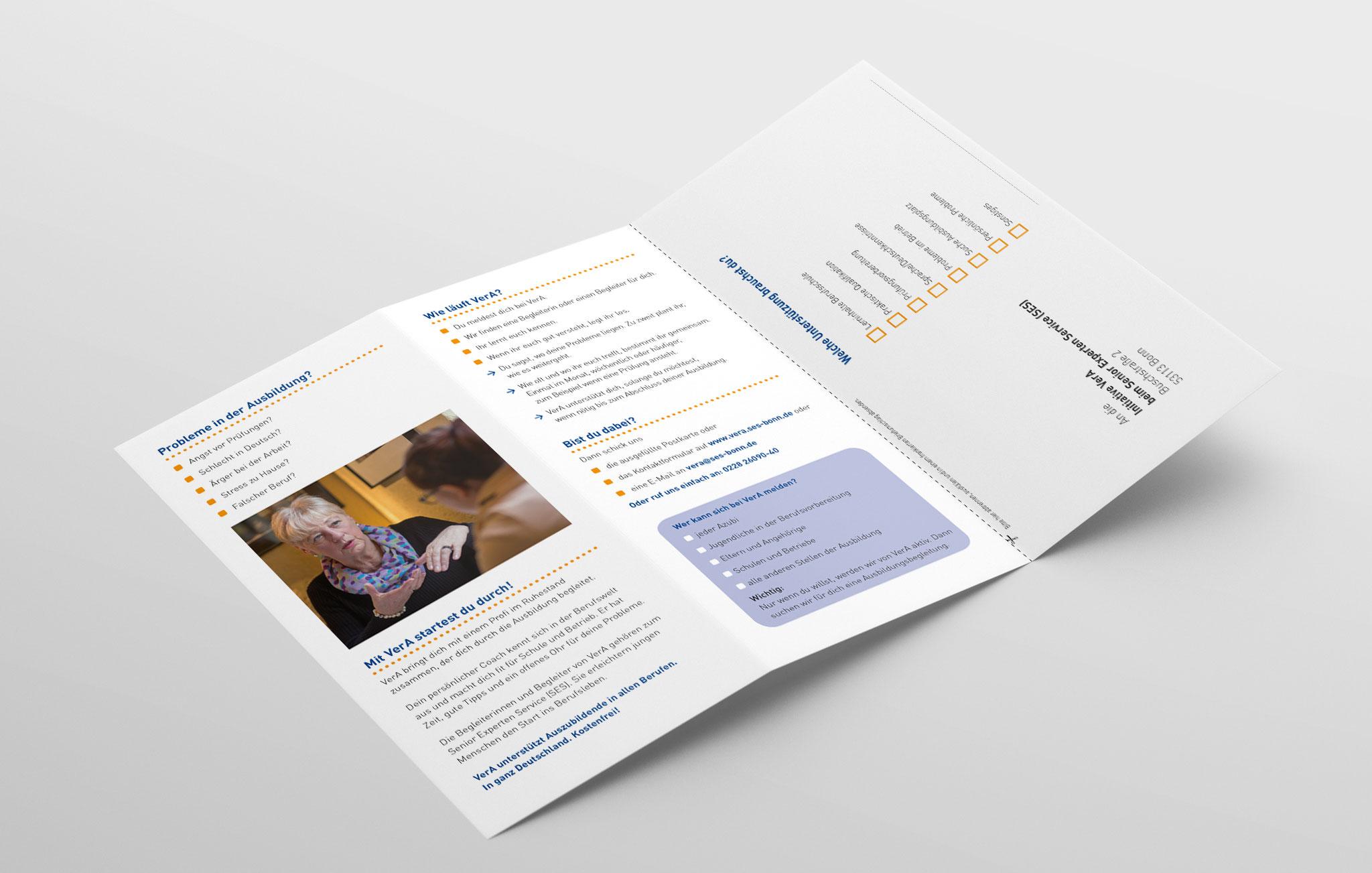 Faltblatt VerA für Auszubildende, Innenseite