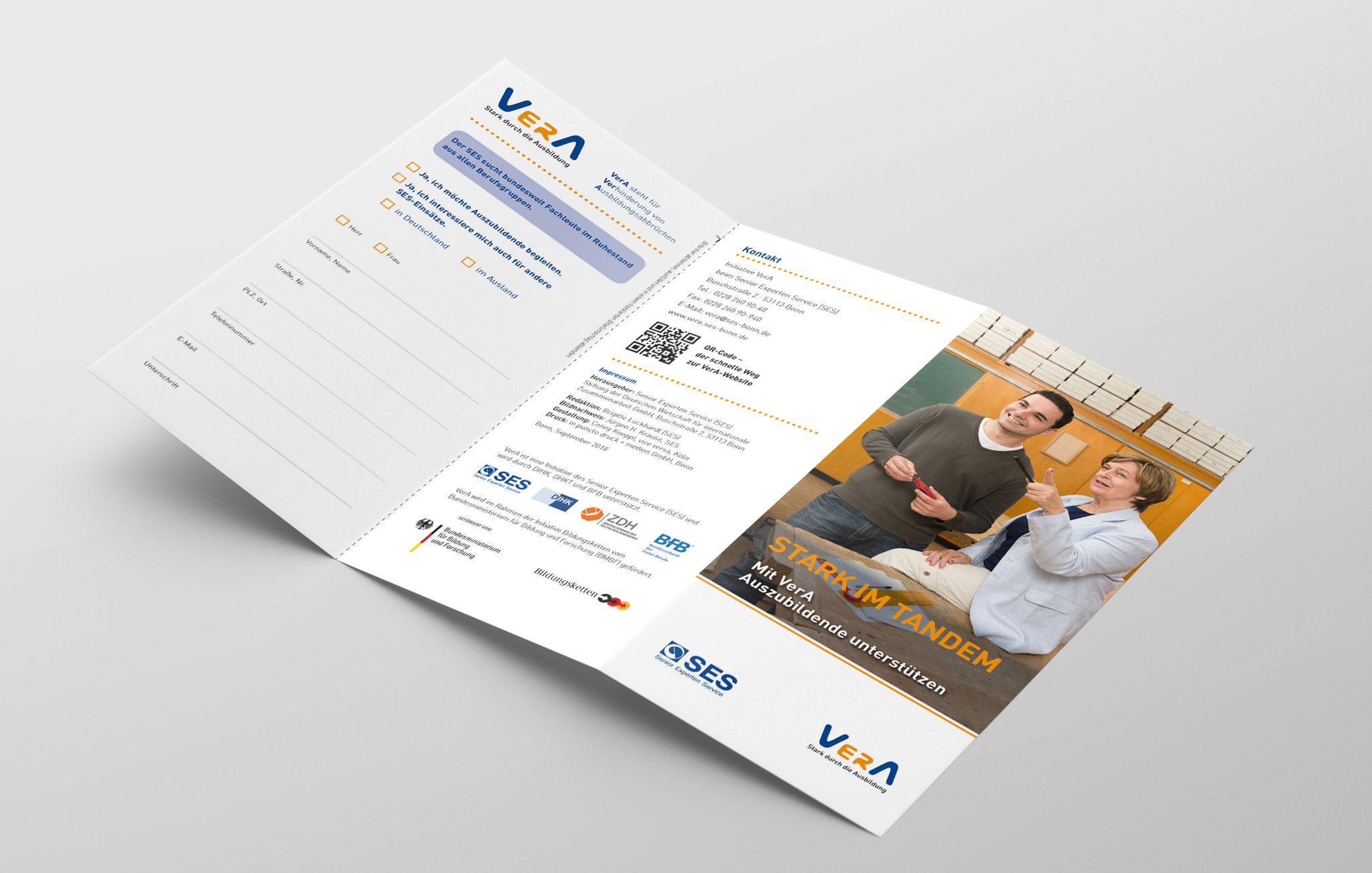 Faltblatt VerA für Senior-Experten, Außenseite