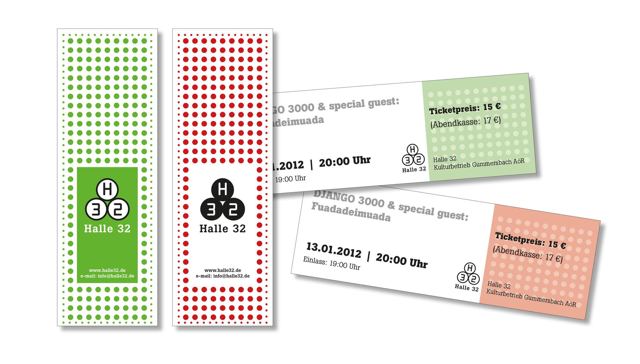 Eintrittskarten-Entwürfe