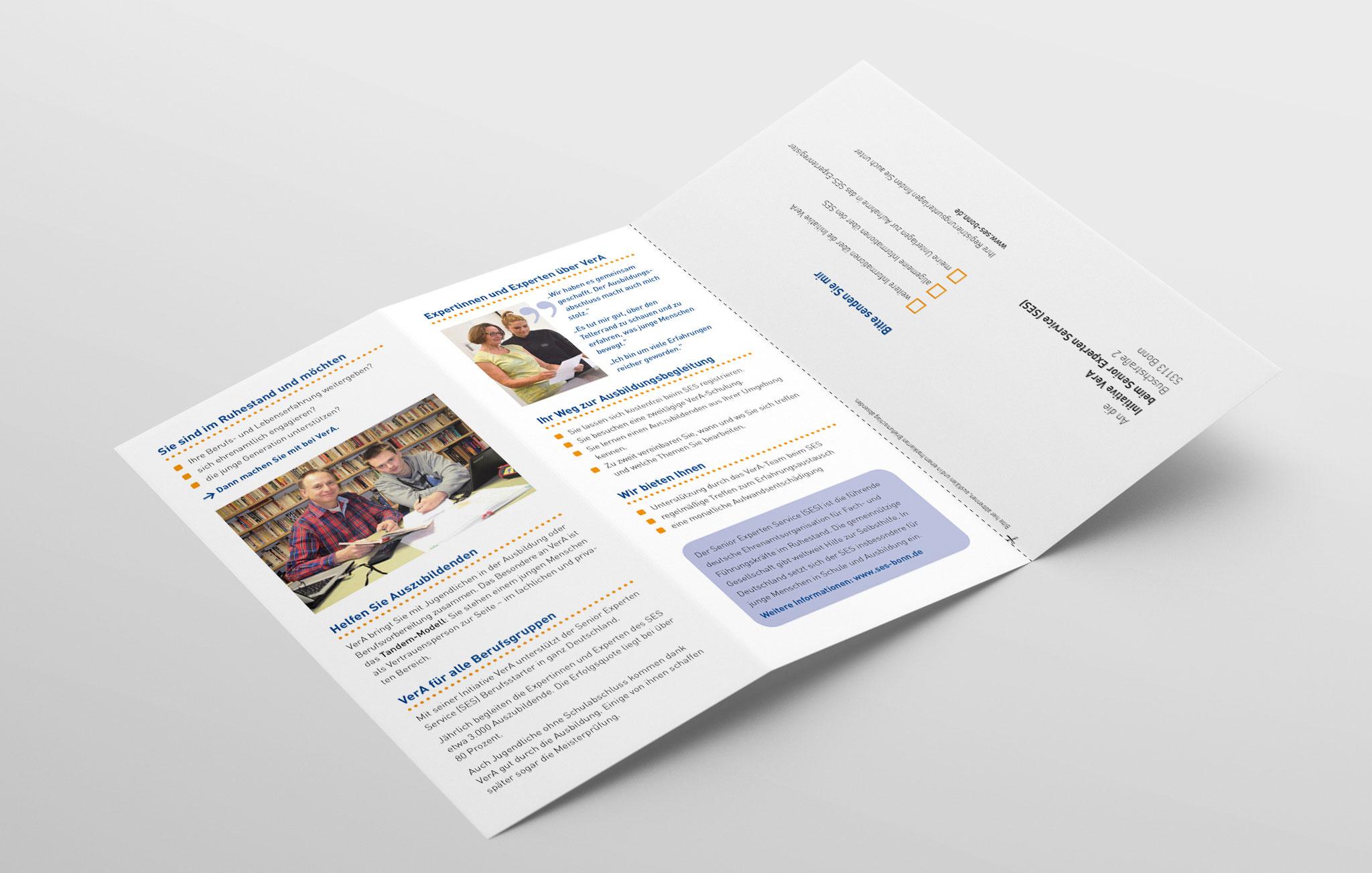 Faltblatt VerA für Senior-Experten, Innenseite