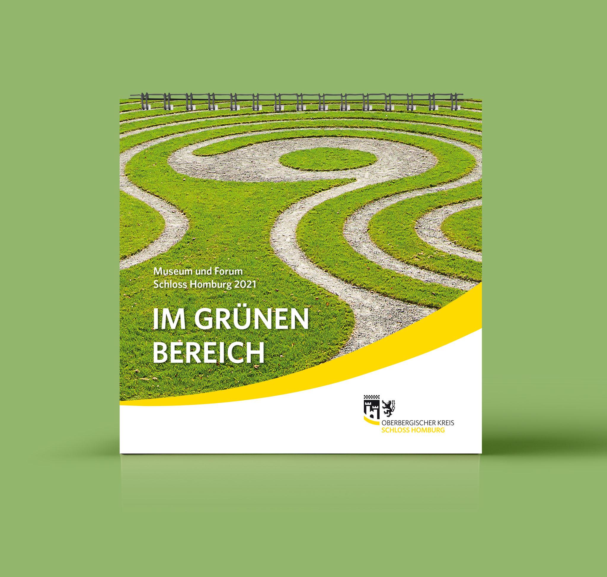 Das Rasenlabyrinth auf dem Schlossareal. Foto: Nikolai Benner
