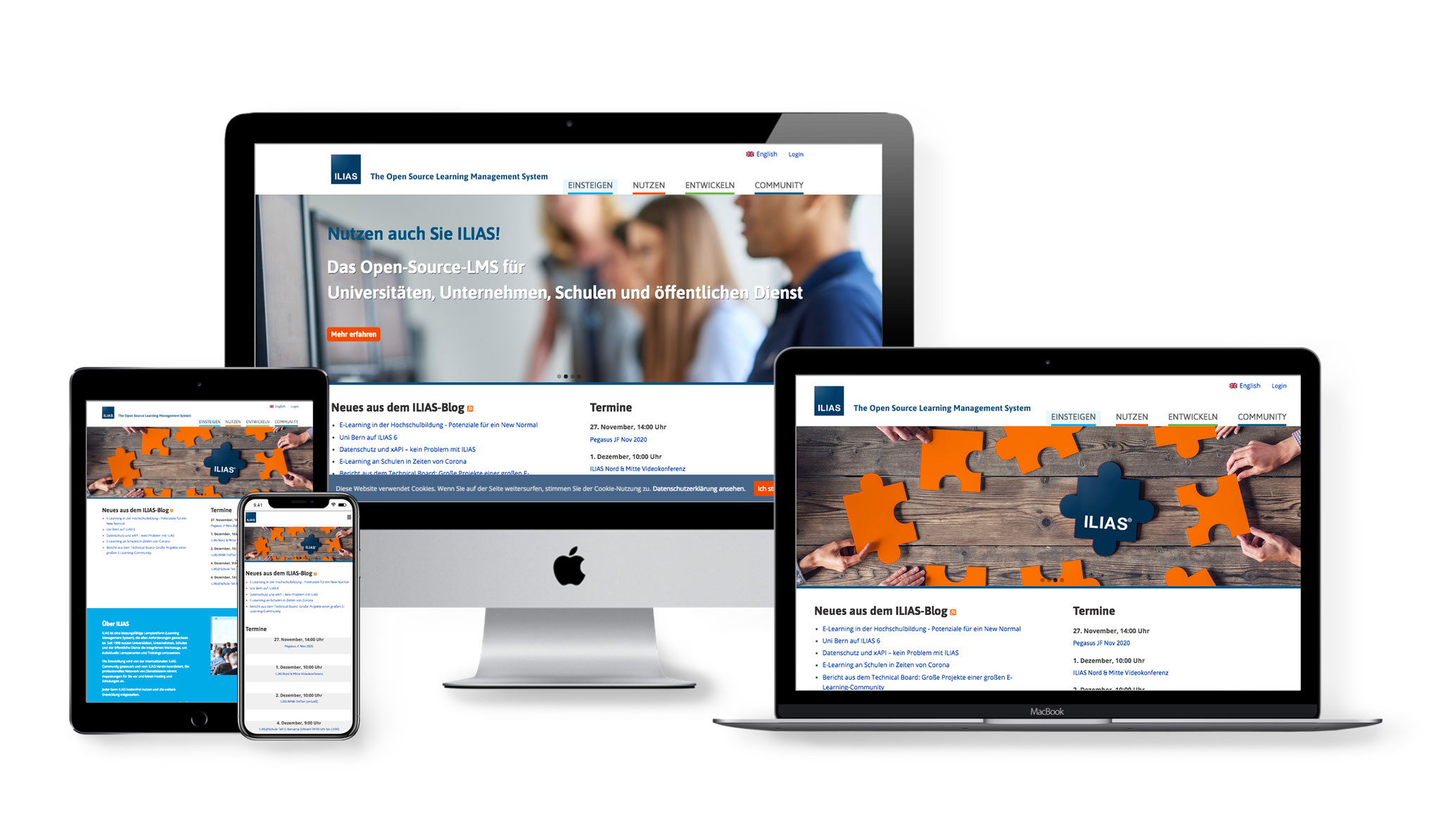 Website ILIAS open source E-learning e.V.