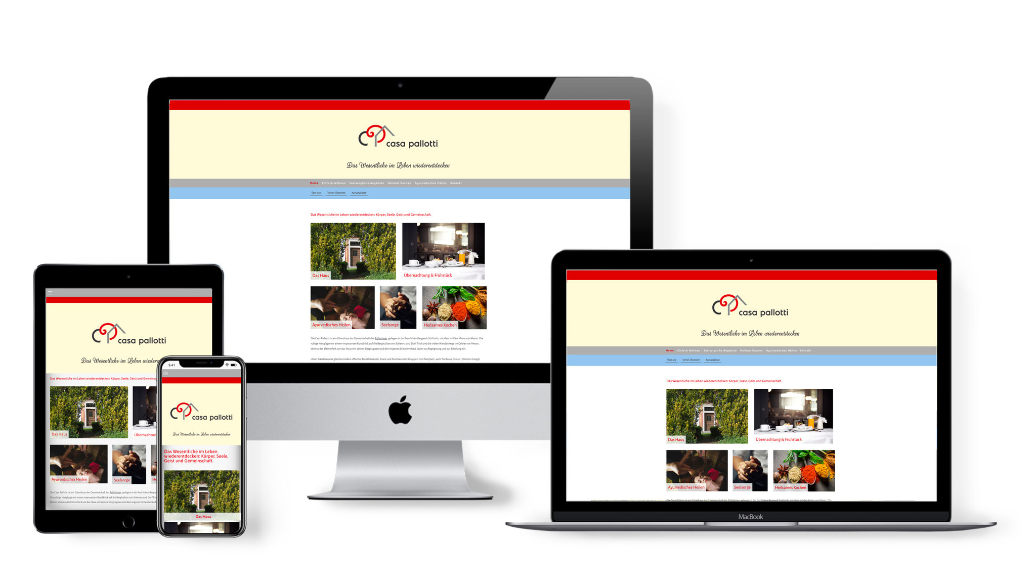 Website Casa Pallotti – Gästehaus der Pallottiner in Meran