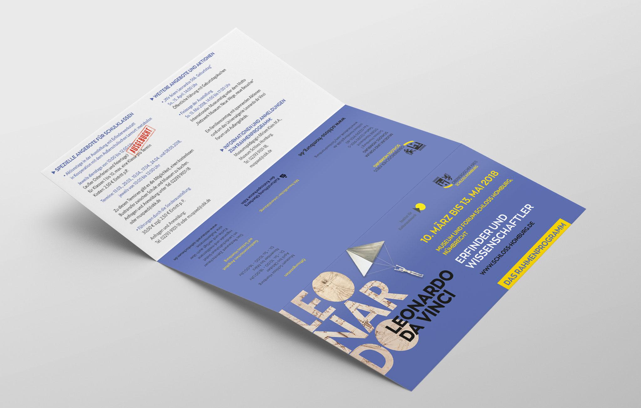 Infofaltblatt zum Rahmenprogramm, Außenseite