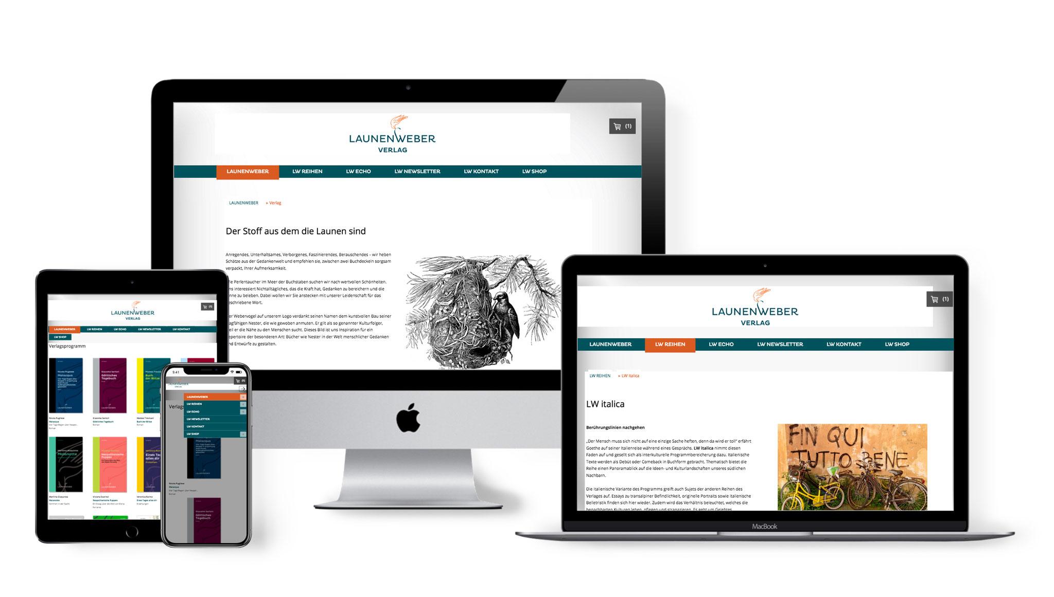 Website LAUNENWEBER Verlag