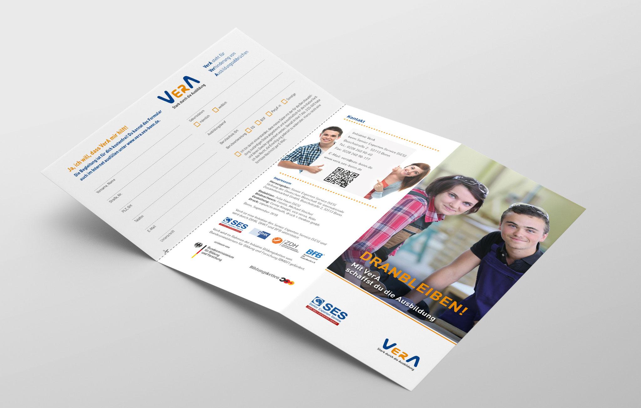 Faltblatt VerA für Auszubildende, Außenseite