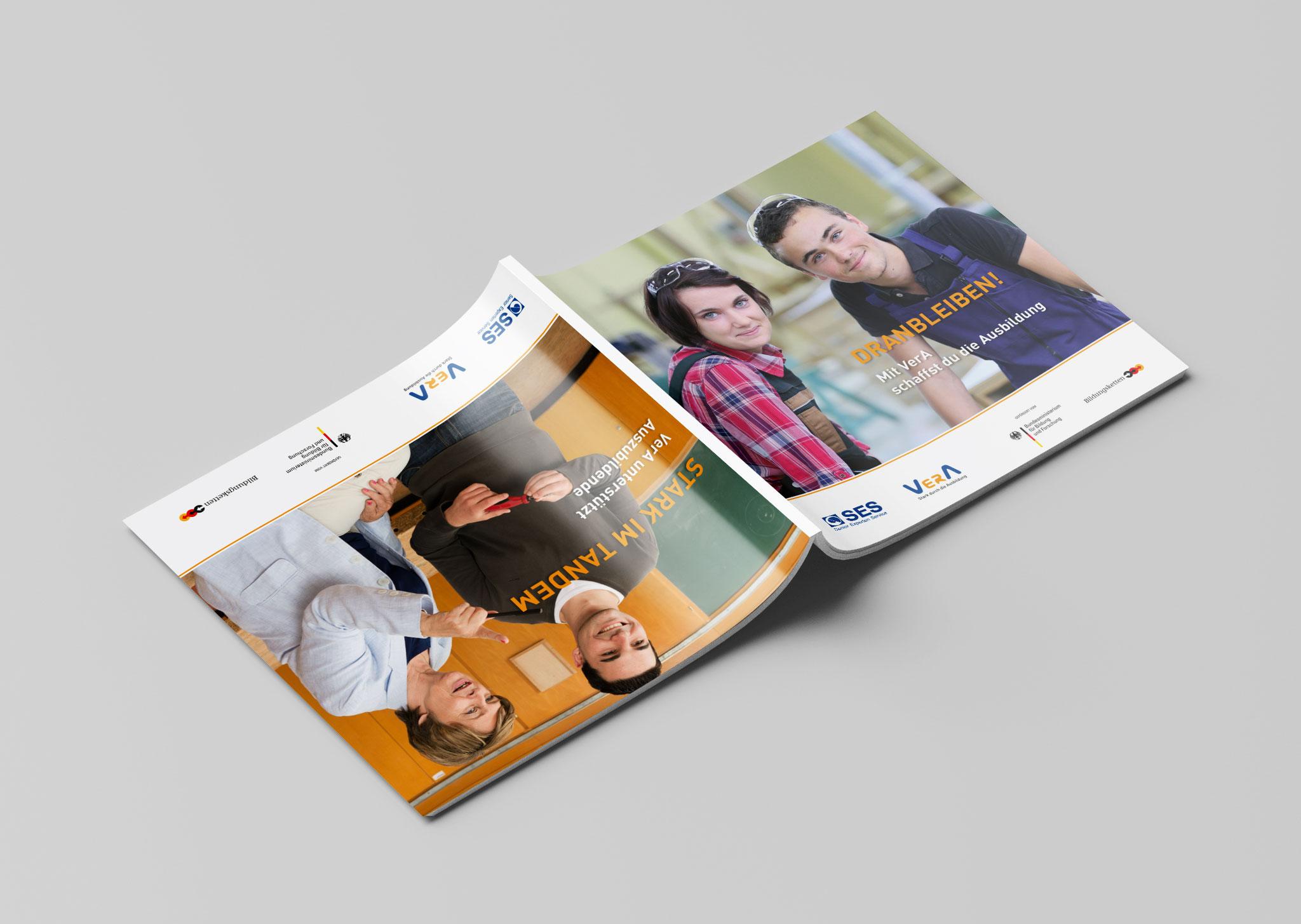 Wendebroschüre VerA für Senior-Experten und Auszubildende, Umschlag