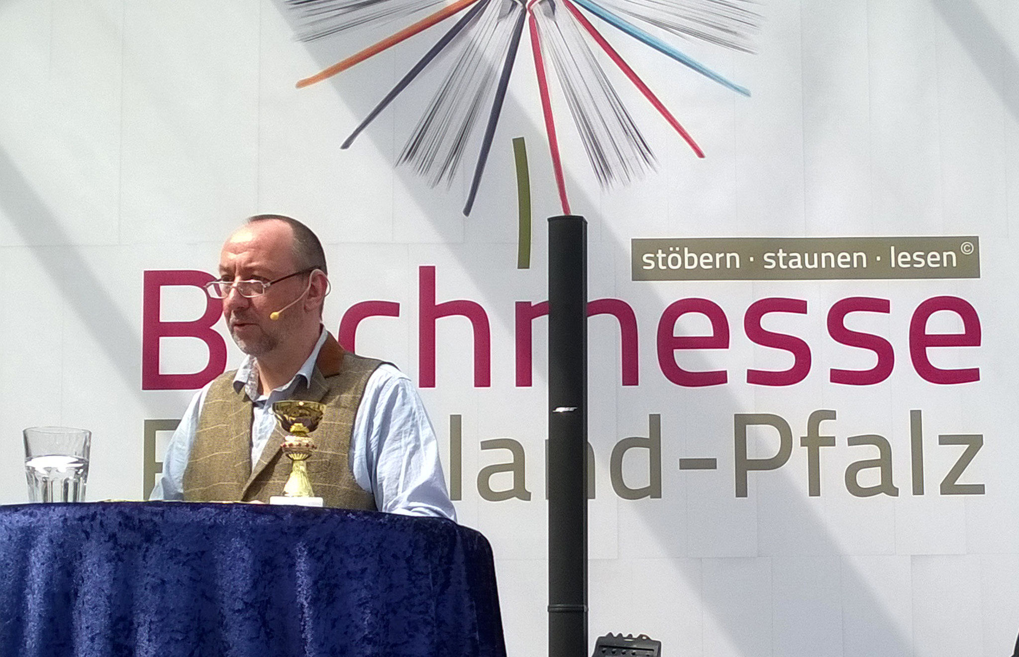 Stefan Nick und The Bock auf der Buchmesse RLP in Mainz am 24.April  2016