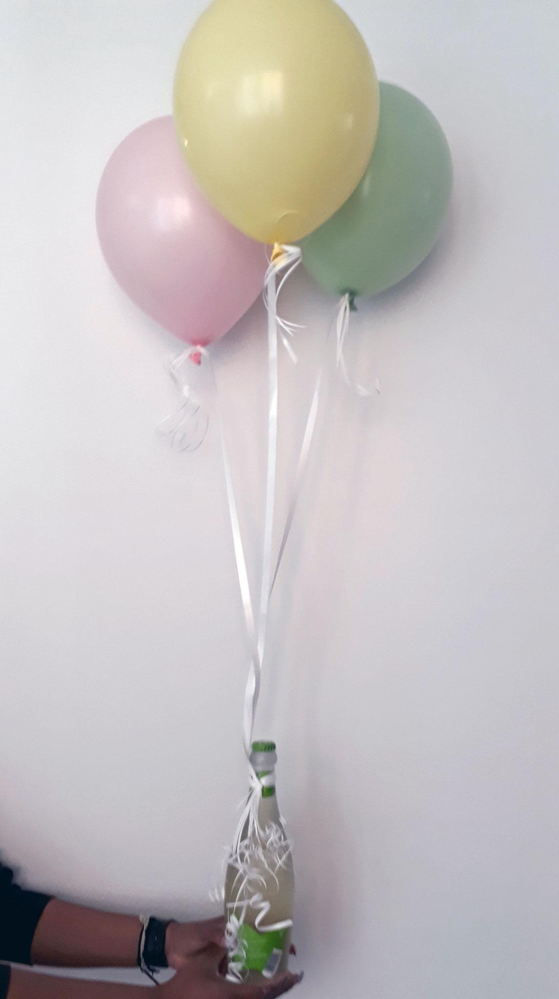Helium-gefüllte Latex-Ballone pastell für eine schöne Überraschung