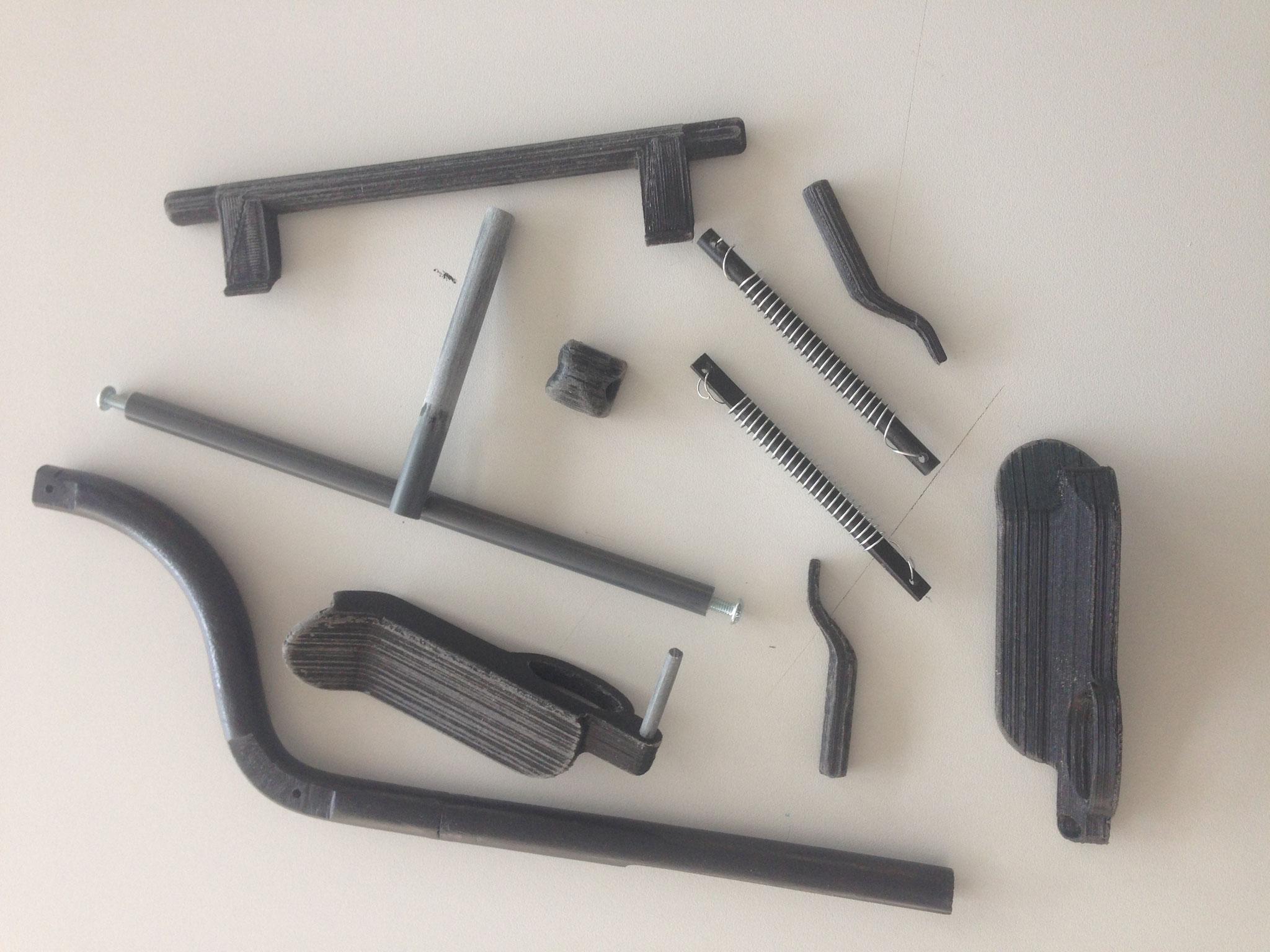 3D-geprinte onderdelen.