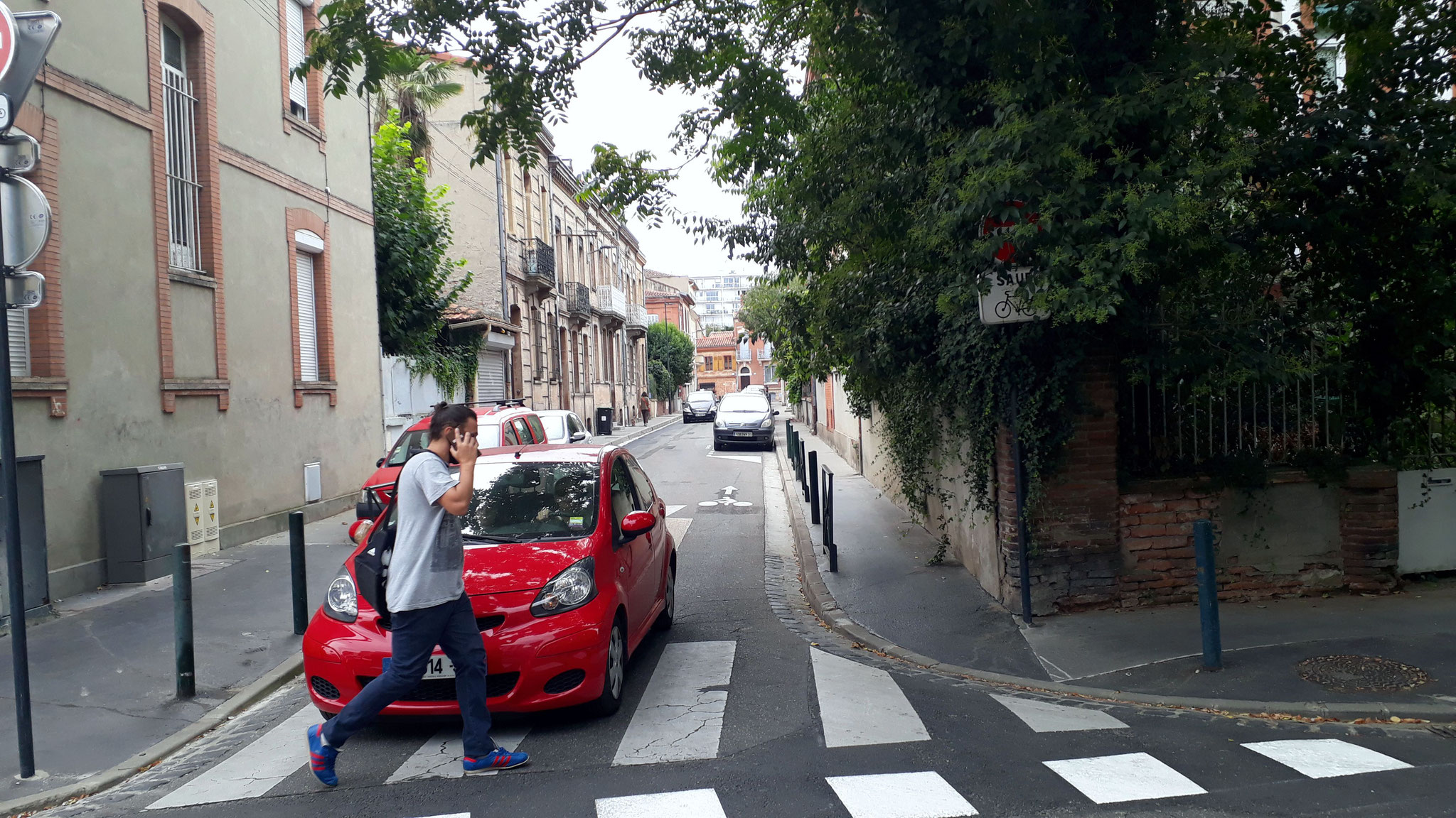 Rue Mérimée, avec chicanes