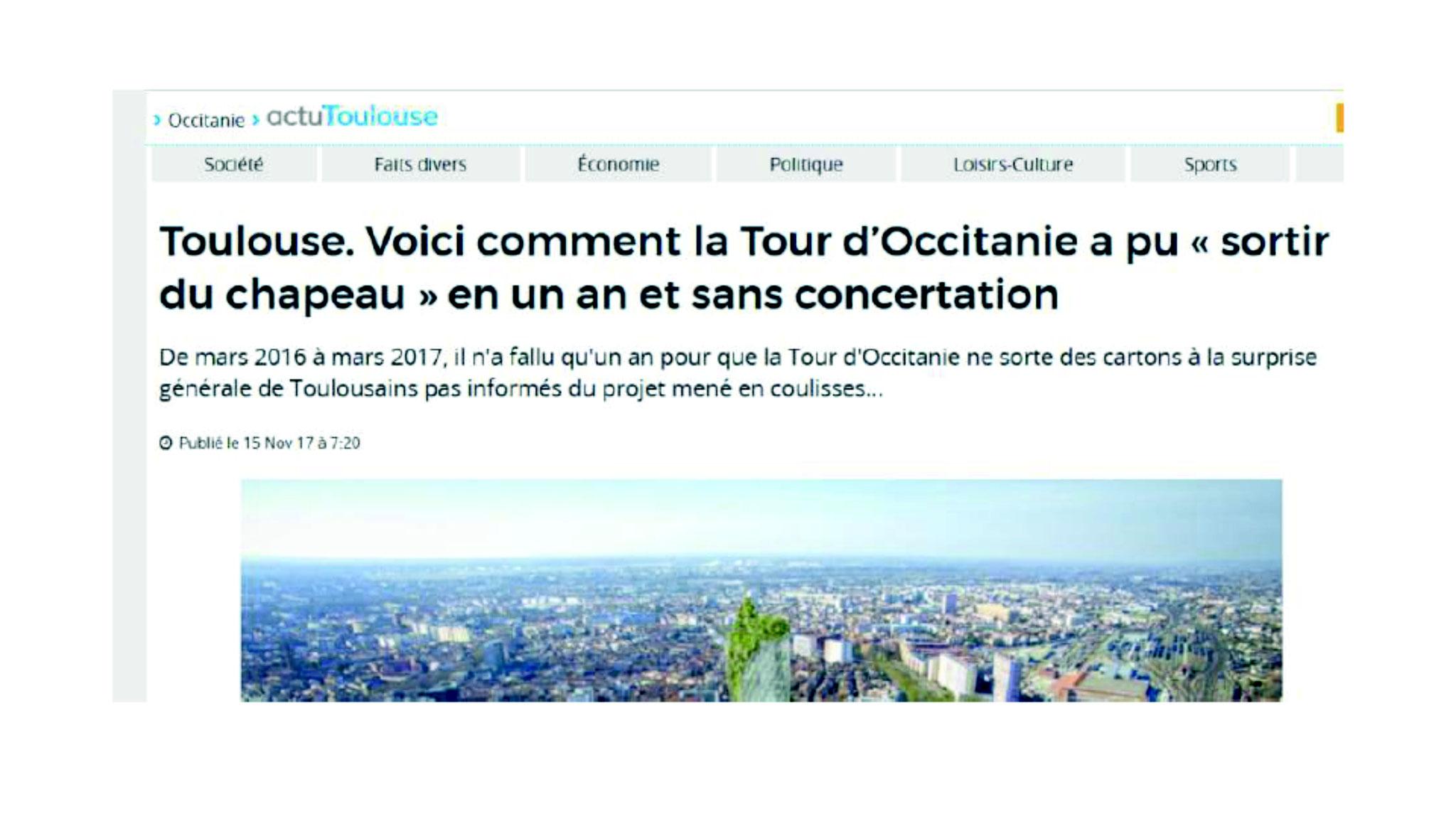 L'histoire de cette tour est racontée dans Actu Toulouse par D. Saint-Sernin (cliquez)