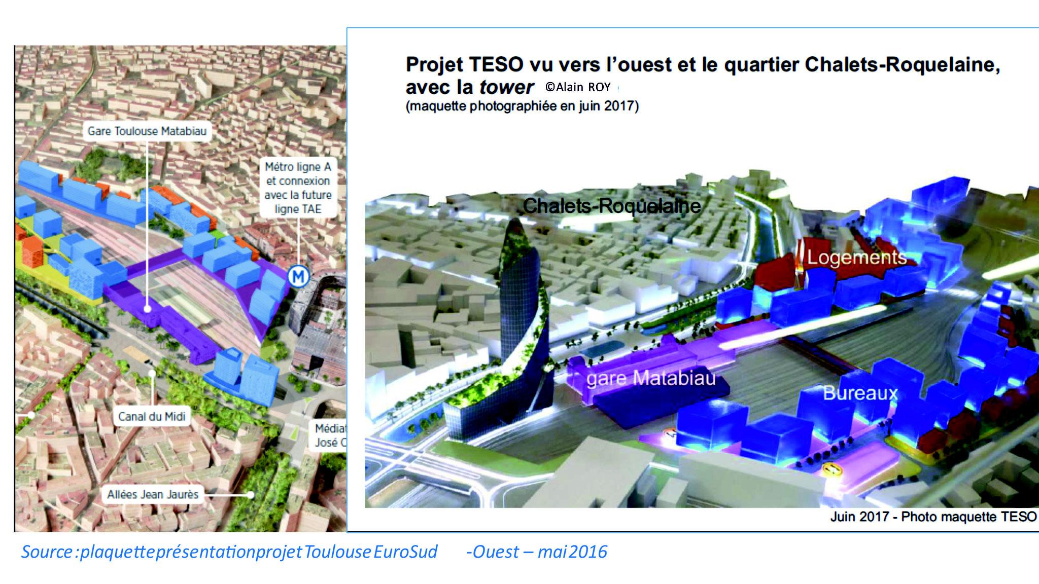 En juin 2017 on découvre la tour annoncée à Cannes par le maire de Toulouse au mois de mars 17