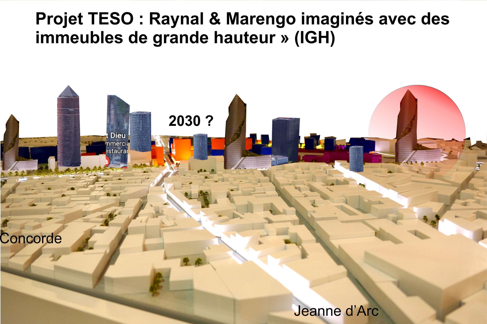 La crainte est de voir le projet TESO devenir un quartier d'affaires composé d'un ensemble de tours
