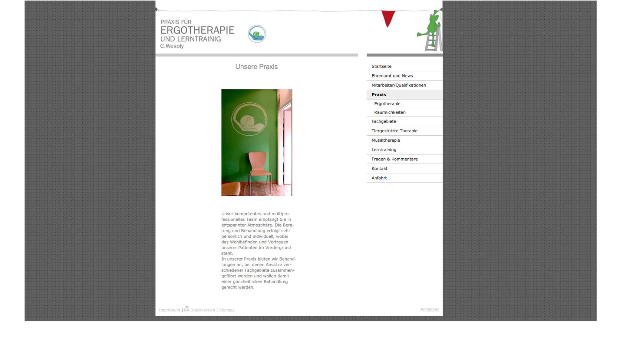 CORPORATE DESIGN | FLYER | PLAKATE | PRAXISGESTALTUNG | INTERNETSEITE - LAYOUT + UMSETZUNG  //  Praxis für Ergotherapie und Lerntraining C.Wesoly in Greifswald