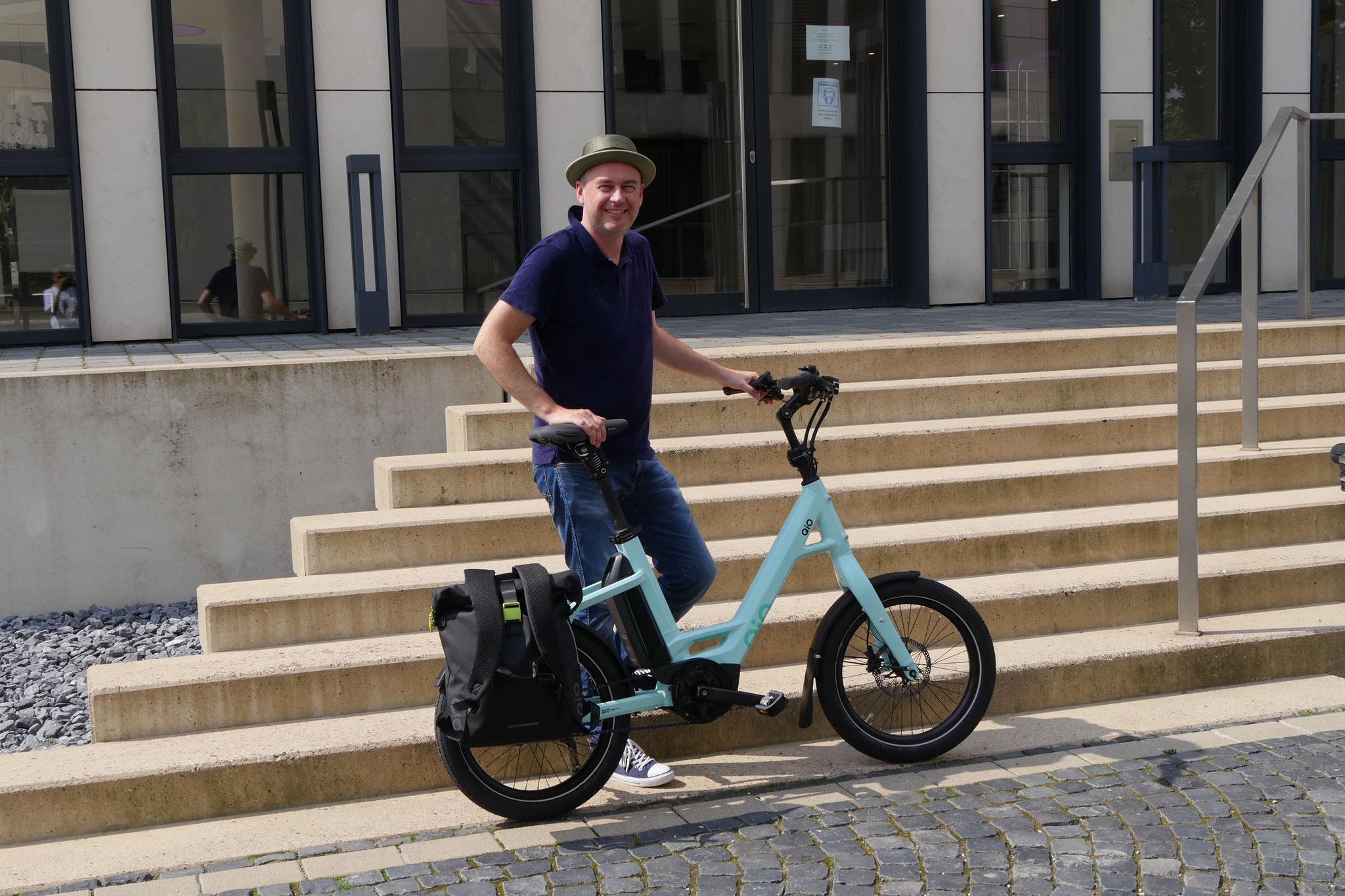QiO 2022 Probefahrt auf den Bikeordertagen Nord