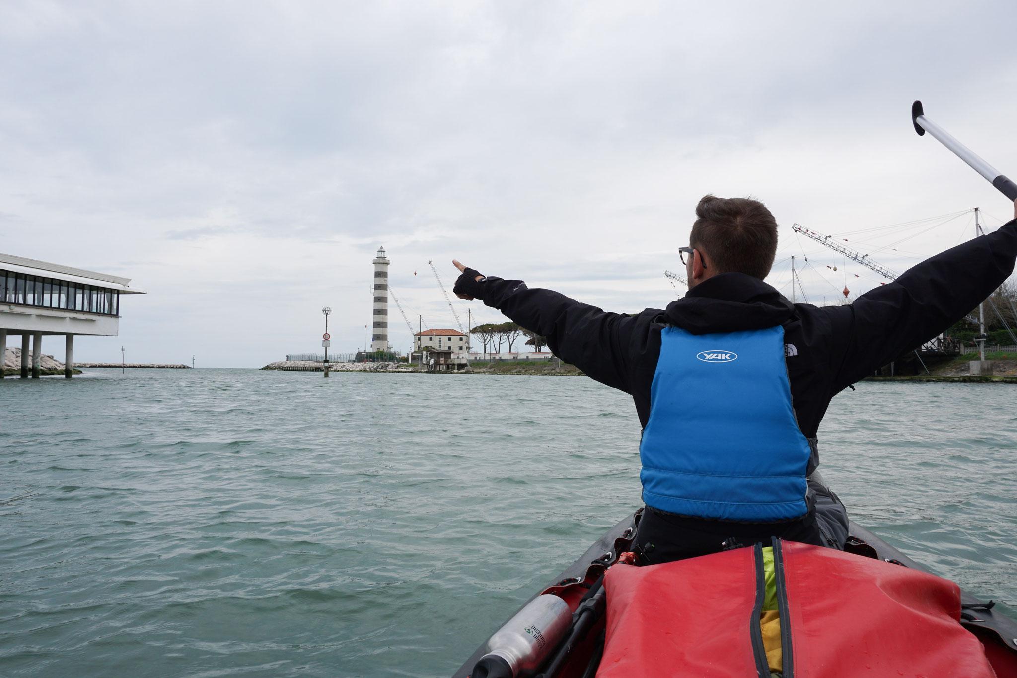 Mündung des Piave ins Meer