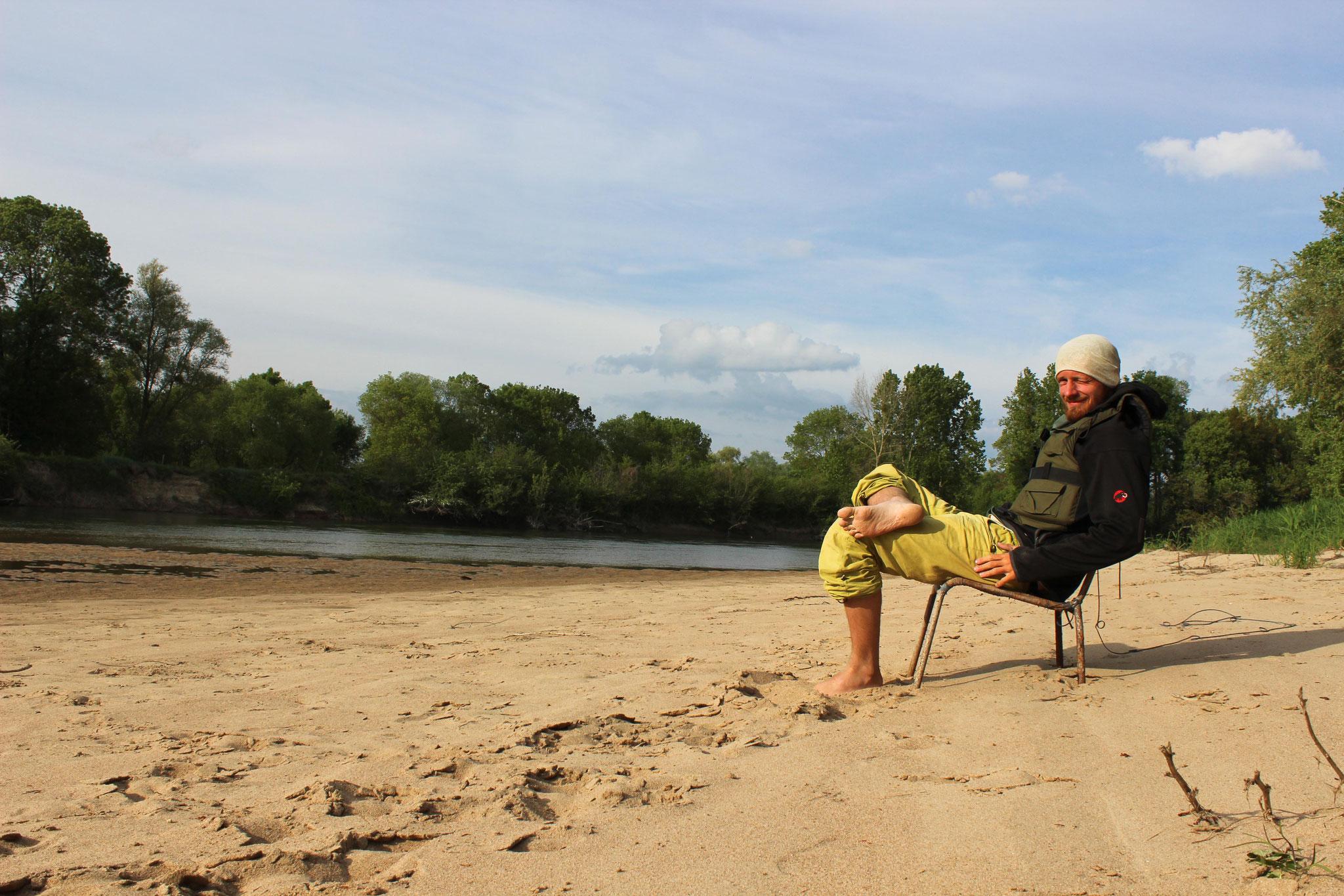 Pause an der Loire
