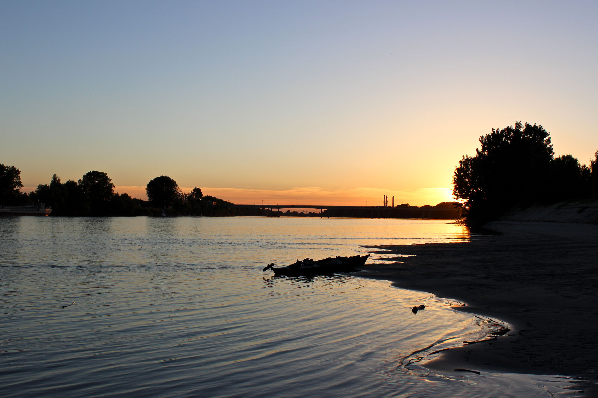 Sonnenuntergang im Po Delta