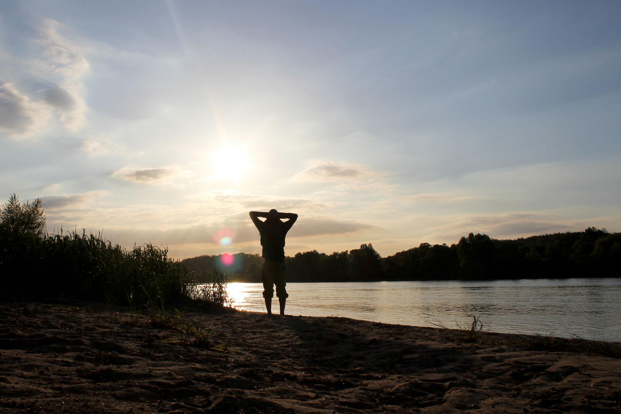 Sonnenuntergang an der Loire