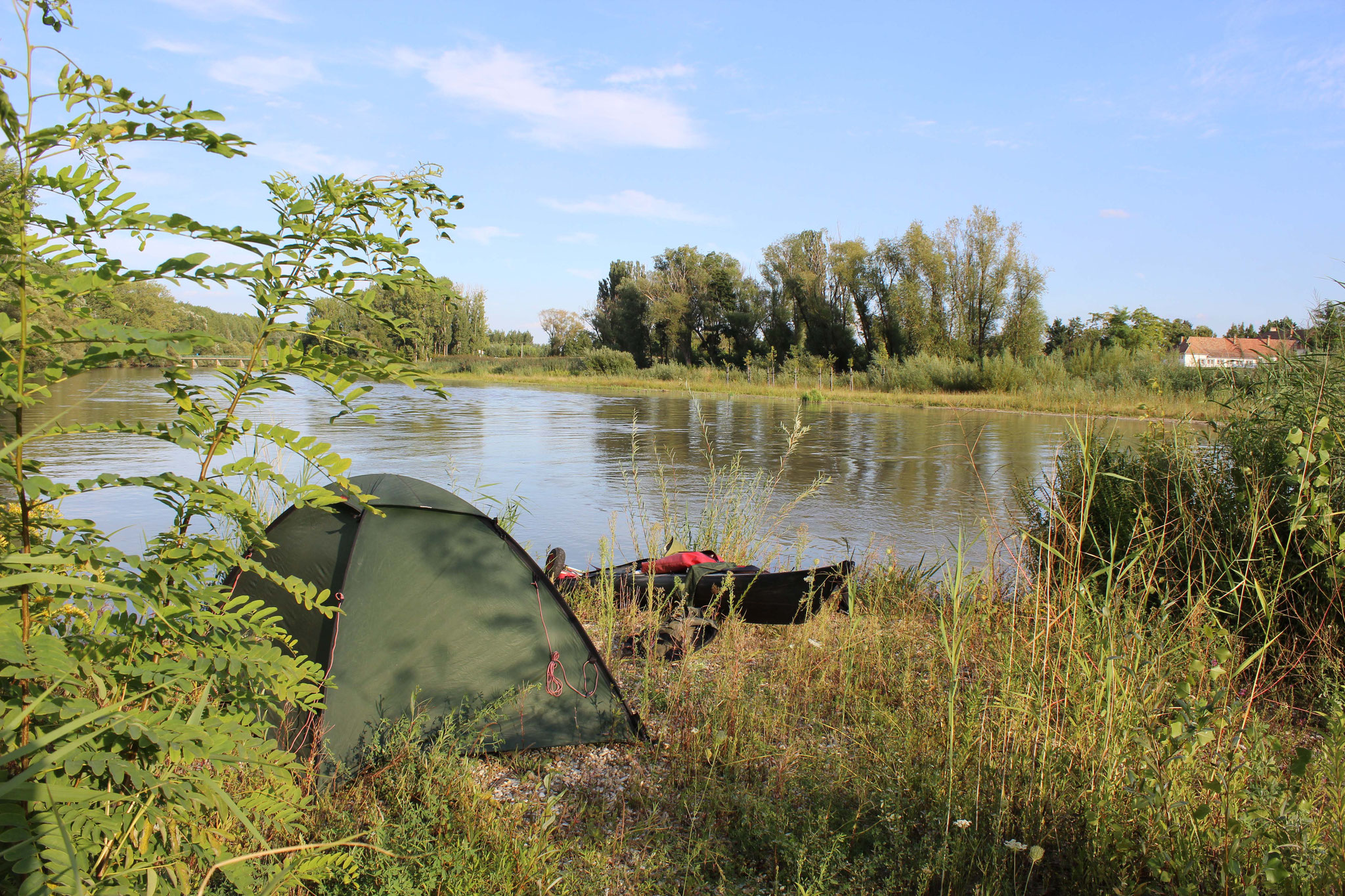 Camp an der Mosoni Donau